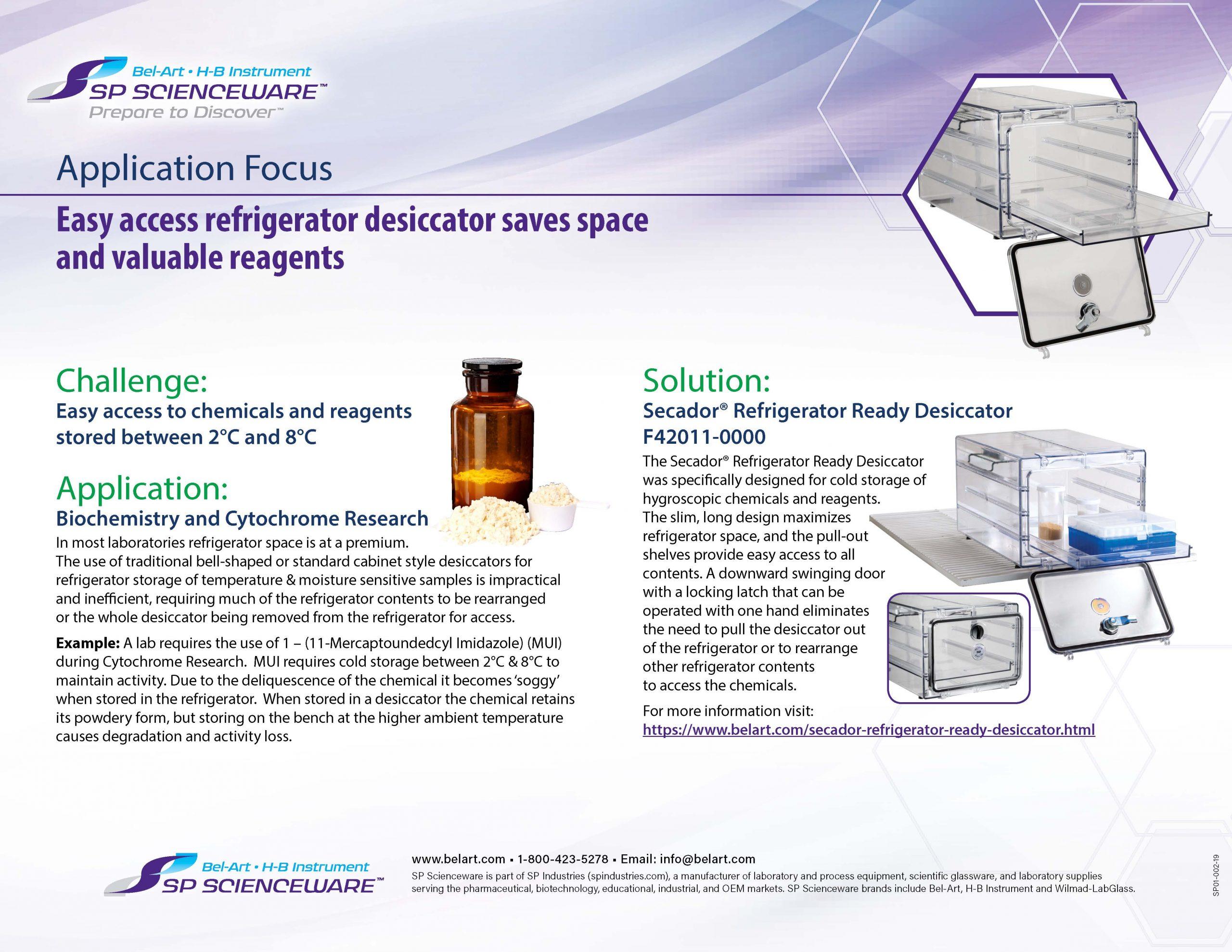 Image: Secador™ Refrigerator Ready Desiccator
