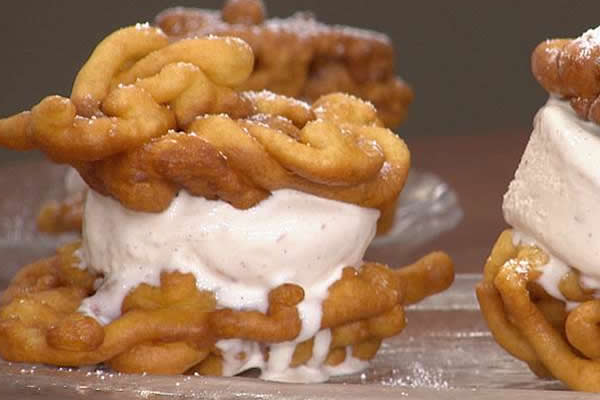 Image: Funnel Cake Ice Cream Sandwich