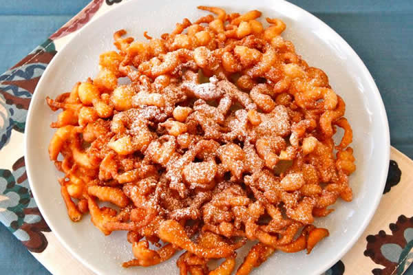 Image: Funnel Cake lightly dusted with powdered sugar