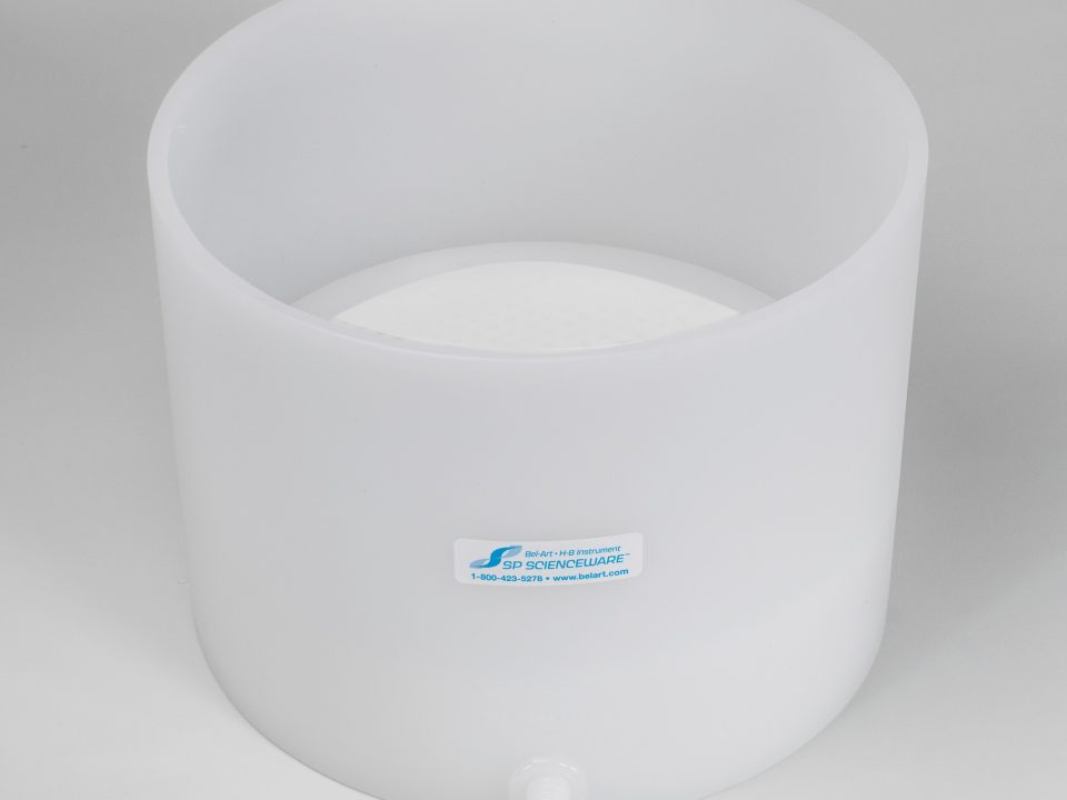 Bel-Art Polyethylene Buchner Table-Top Funnel with Coarse Porosity Fixed Plate
