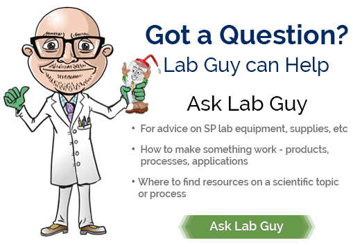 Image:  Got a Question?  Ask Lab Guy
