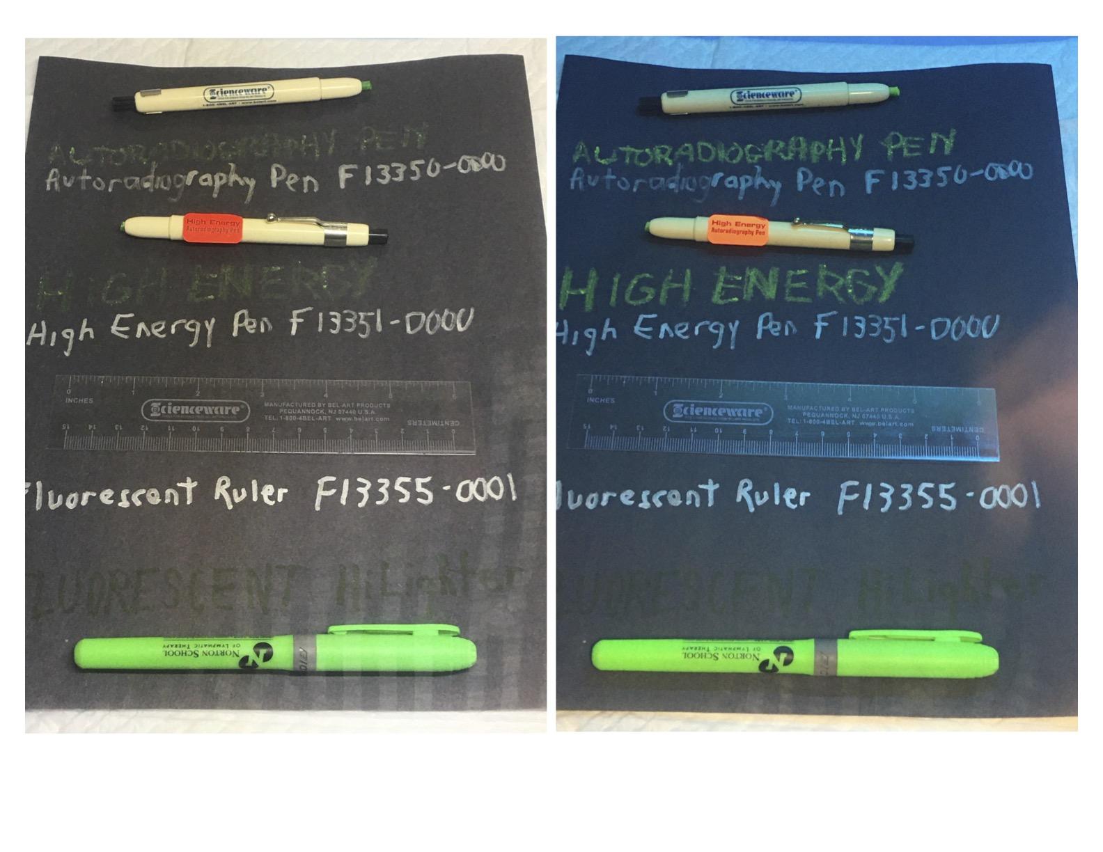 Image: autoradiography pens - regular and high energy