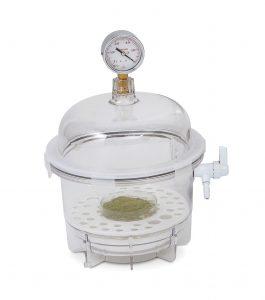 Image:  SP Bel-Art 6 Litre Lab Companion Clear Polycarbonate Round Style Vacuum Desiccator