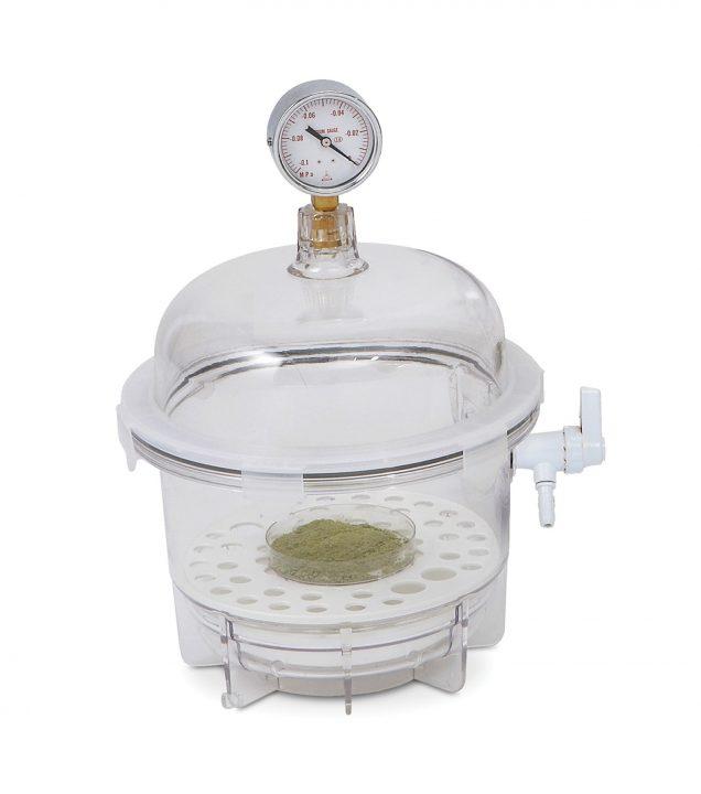 Image: sp bel art lab companion clear polycarbonate round style vacuum desiccator; 6 liter 42400 2021