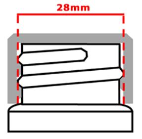 Image 28 mm cap