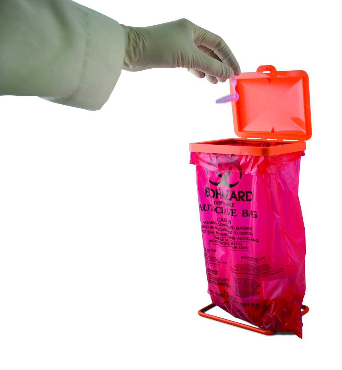 Poxygrid 174 Bench Top Biohazard Bag Holder Kit Default