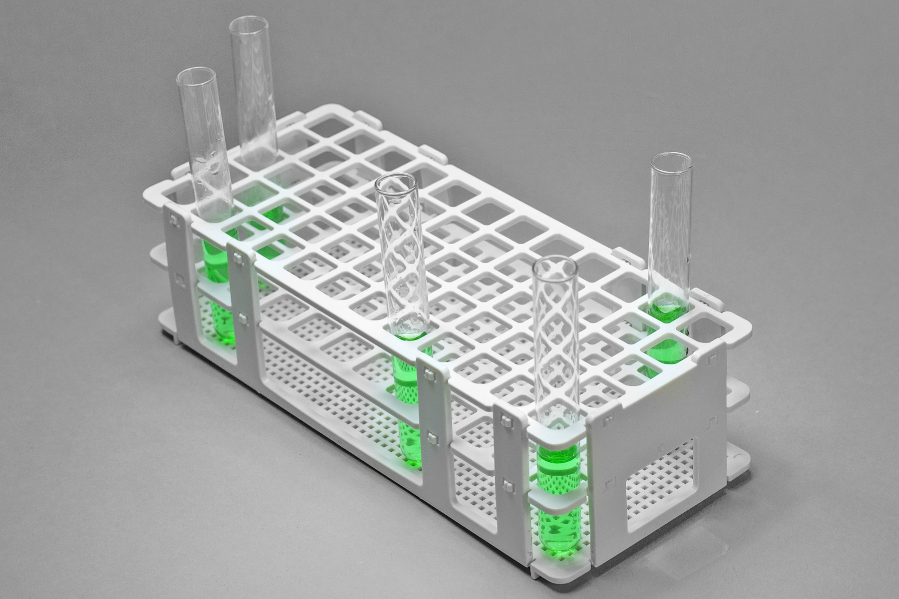 Bel-Art No-Wire Test Tube Rack; For 13-16mm Tubes, 60 Places ... for Laboratory Test Tube Holder  557yll