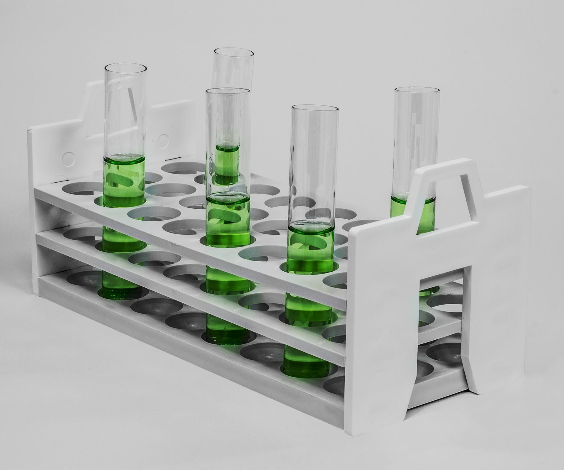 Bel-Art Stack Rack Test Tube Rack; For 25-30mm Tubes, 24 Places ... for Laboratory Test Tube Holder  66plt