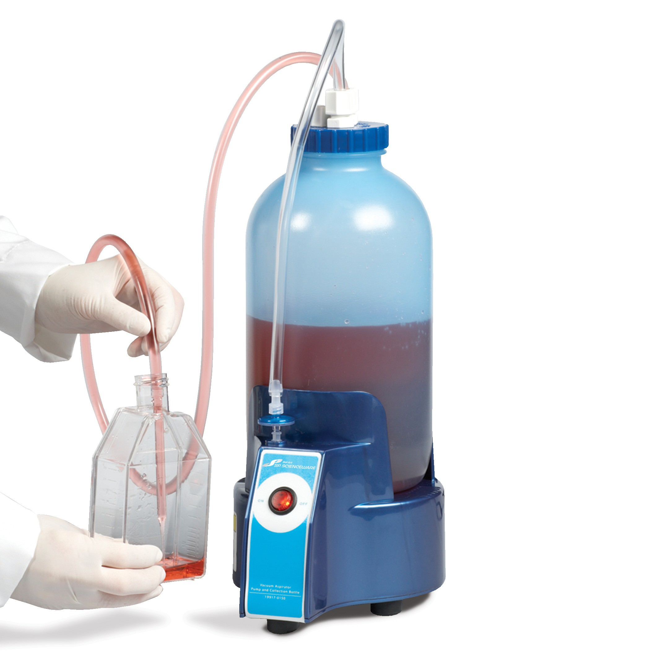 Bel Art Vacuum Aspirator Collection System; 1.0 Gallon Bottle With Pump
