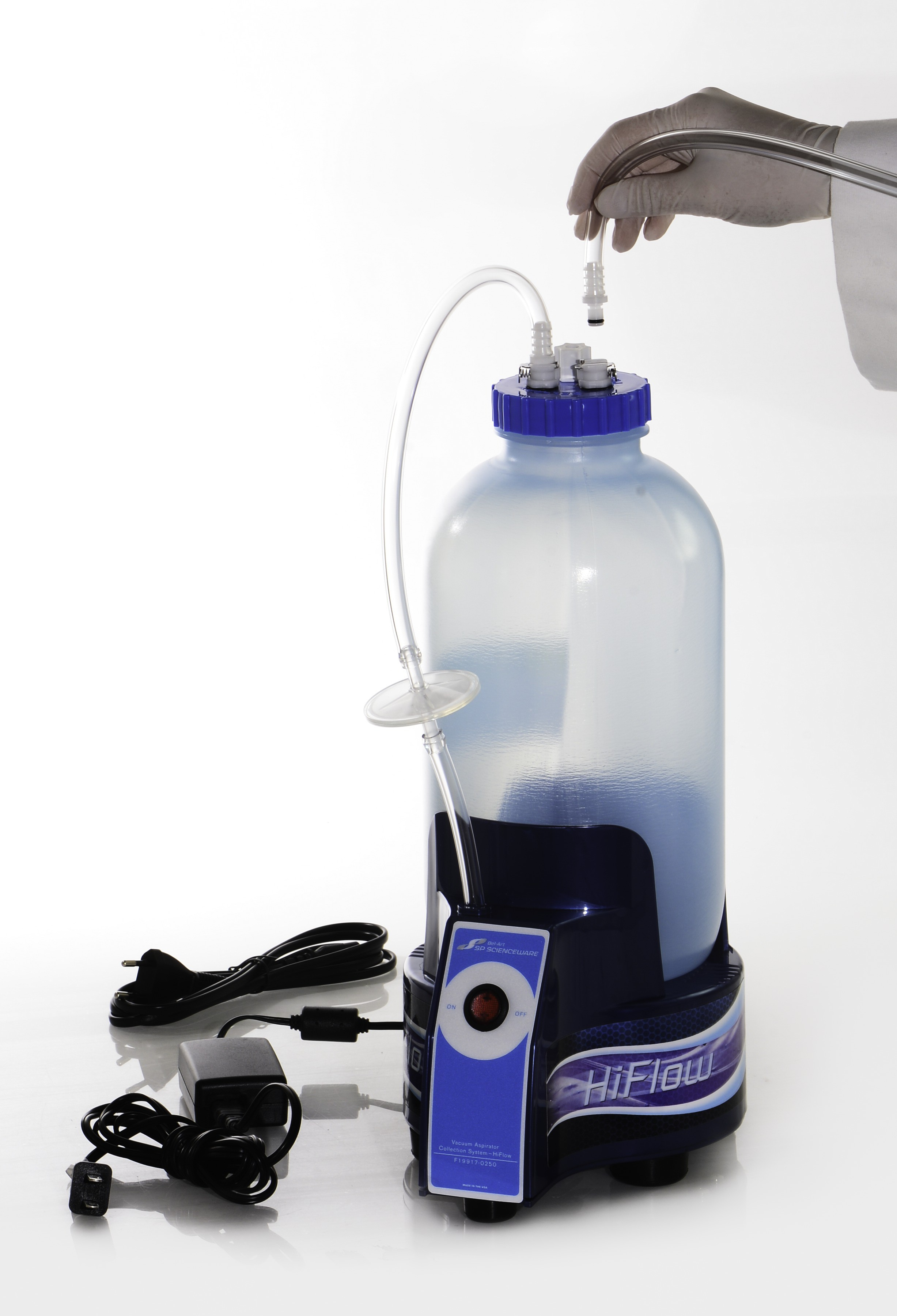 Bel Art HiFlow Vacuum Aspirator Collection System, 1.0 Gallon Bottle With  Pump