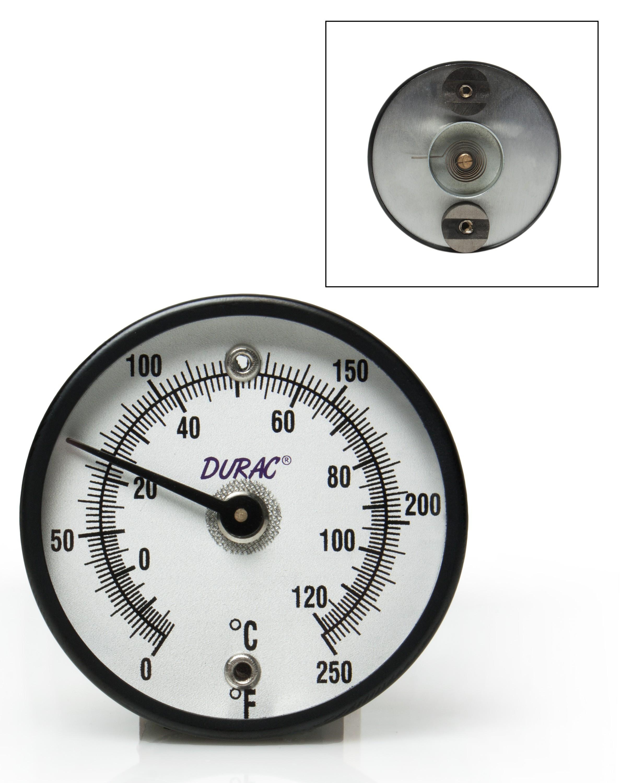 ... H B DURAC Bi Metallic Surface Temperature Thermometer 18 120C 0