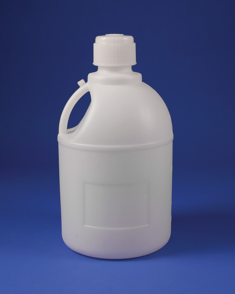 SP Bel-Art Polyethylene Carboy with Handle and Screw Cap; 20 Liters (5 Galllons), 83mm Closure