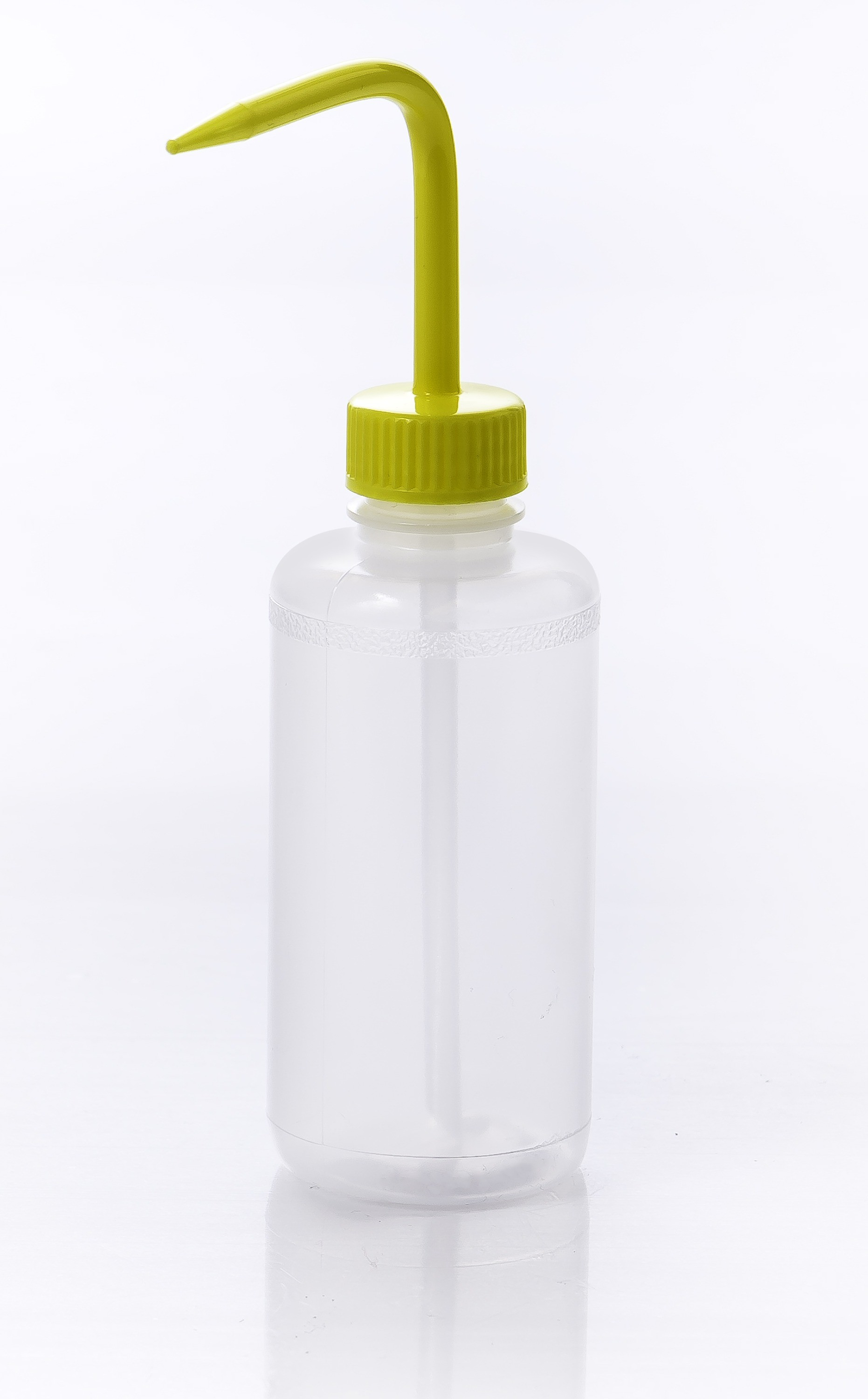 SP Bel-Art Narrow-Mouth 250ml (8oz) Polyethylene Wash Bottles; Yellow Polypropylene Cap, 28mm Closure (Pack of 6)