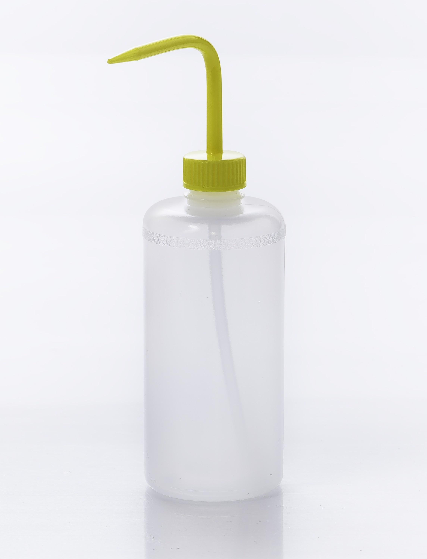 SP Bel-Art Narrow-Mouth 500ml (16oz) Polyethylene Wash Bottles; Yellow Polypropylene Cap, 28mm Closure (Pack of 6)
