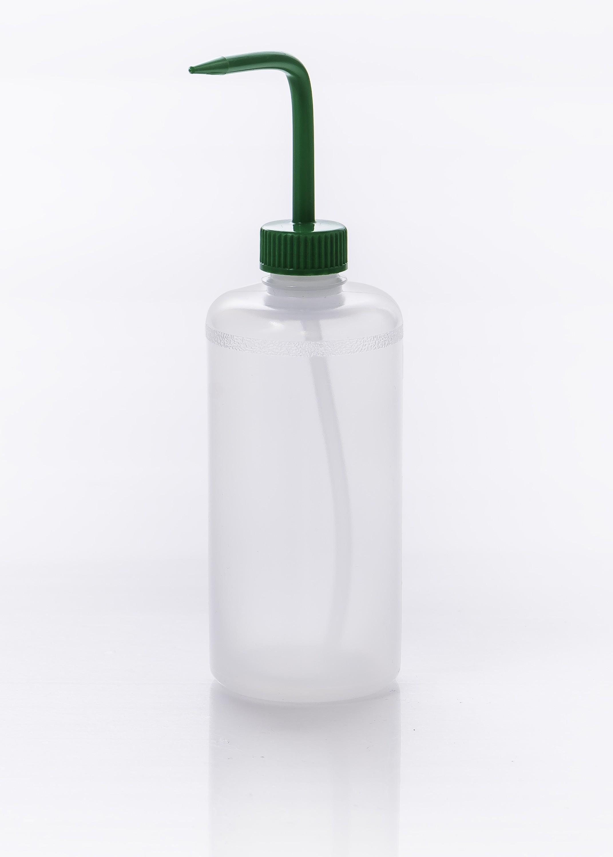 SP Bel-Art Narrow-Mouth 500ml (16oz) Polyethylene Wash Bottles; Green Polypropylene Cap, 28mm Closure (Pack of 6)