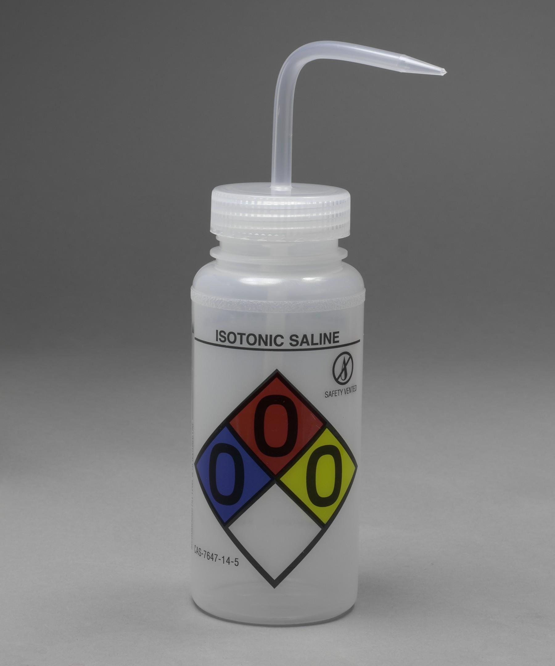 Bel-Art GHS Labeled Safety-Vented Isotonic Saline Wash