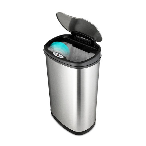 SP Bel-Art Touch Free Stainless Steel 13.2 Gallon Automatic Waste Can