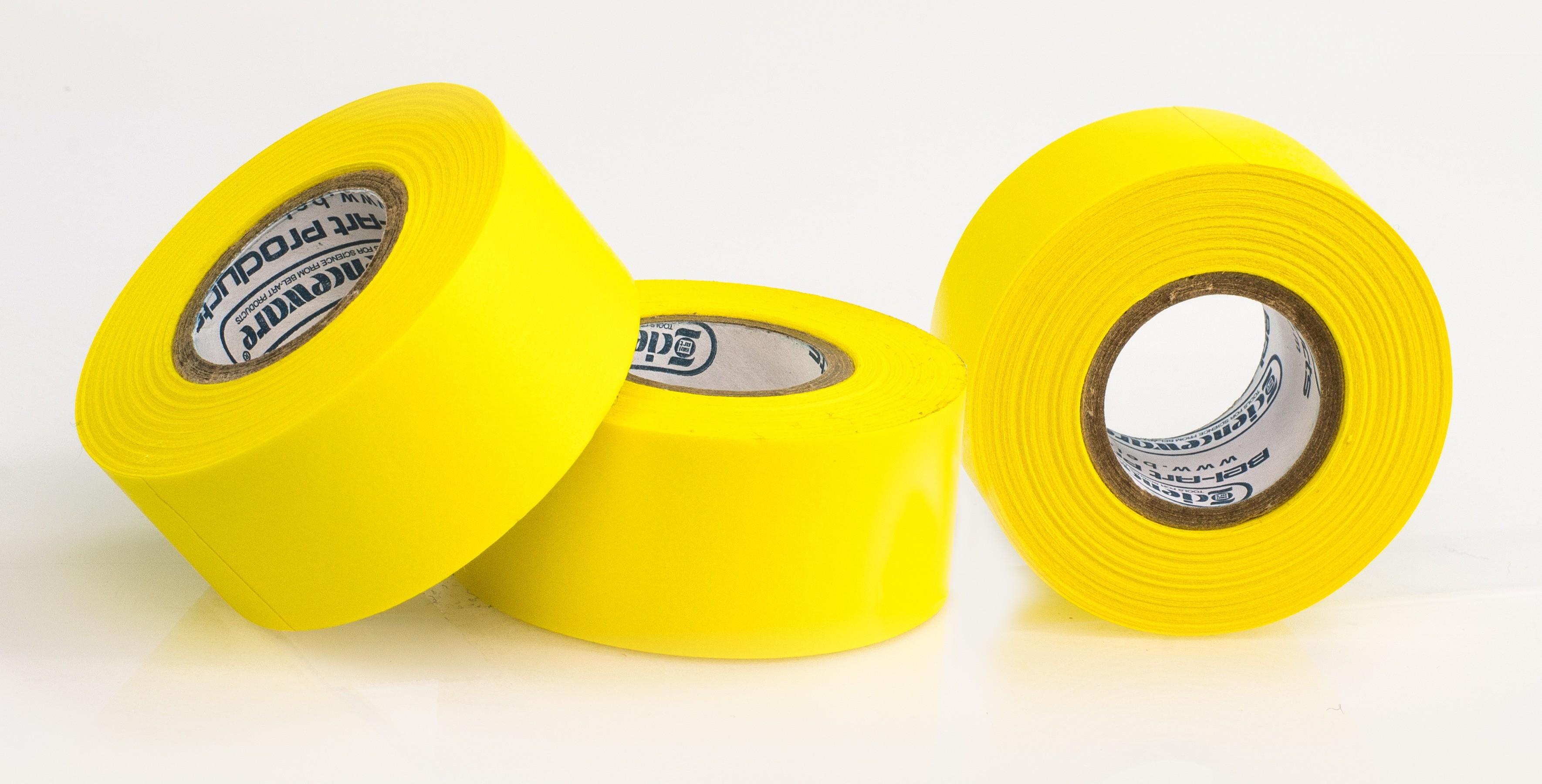SP Bel-Art Write-On Yellow Label Tape; 15yd Length, 1 in. Width, 1 in. Core (Pack of 3)