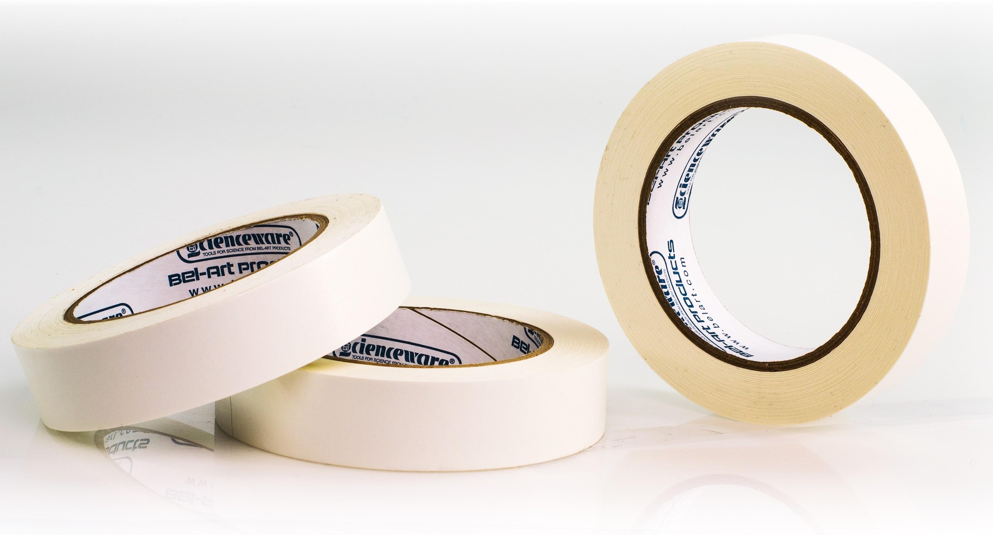 SP Bel-Art Write-On White Label Tape; 40yd Length, 1 in. Width, 3 in. Core (Pack of 3)