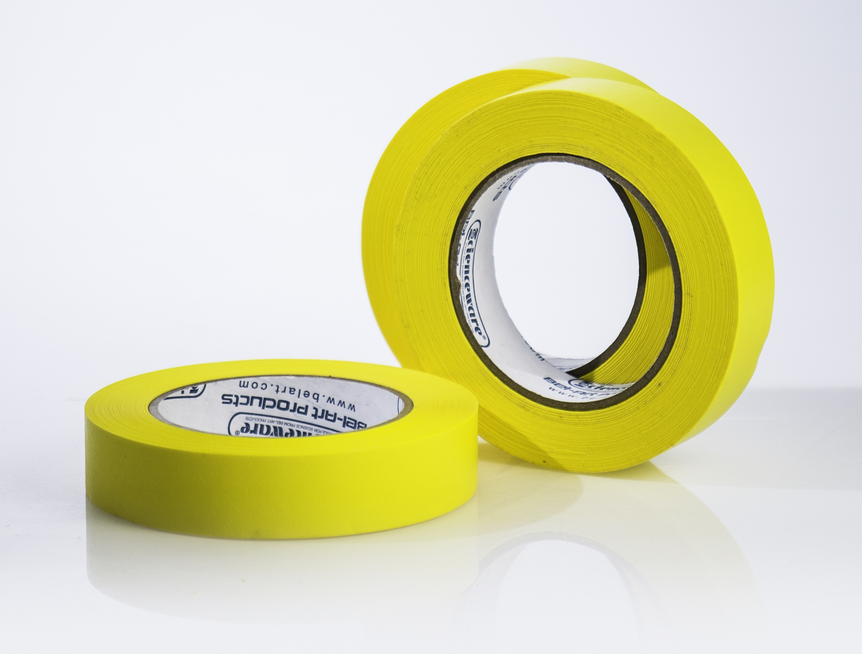 SP Bel-Art Write-On Yellow Label Tape; 40yd Length, 1 in. Width, 3 in. Core (Pack of 3)