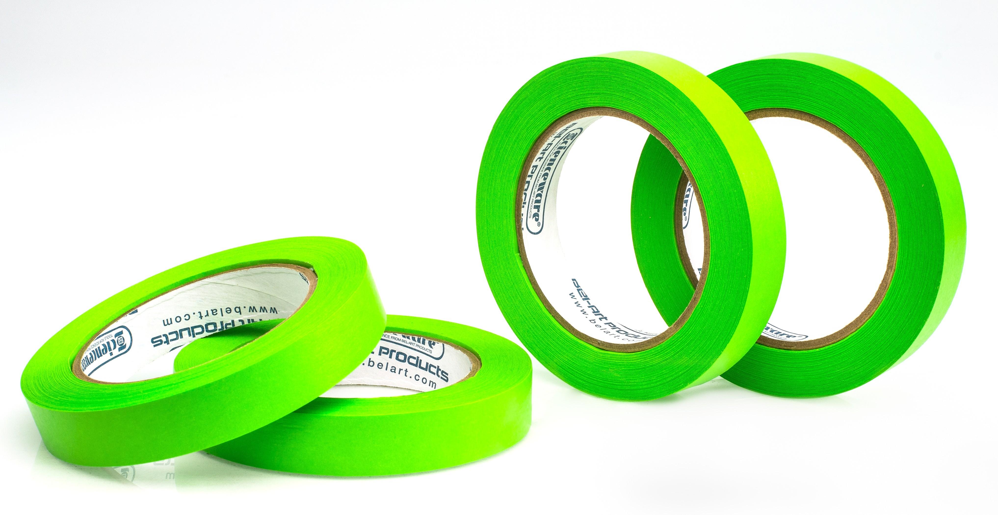 SP Bel-Art Write-On Green Label Tape; 40yd Length, ³/₄ in. Width, 3 in. Core (Pack of 4)