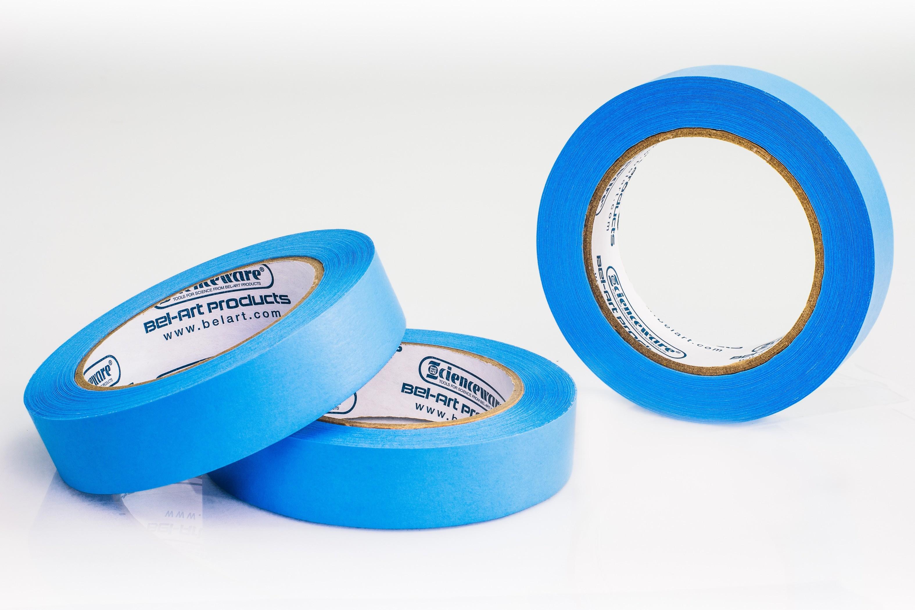 SP Bel-Art Write-On Blue Label Tape; 40yd Length, 1 in. Width, 3 in. Core (Pack of 3)