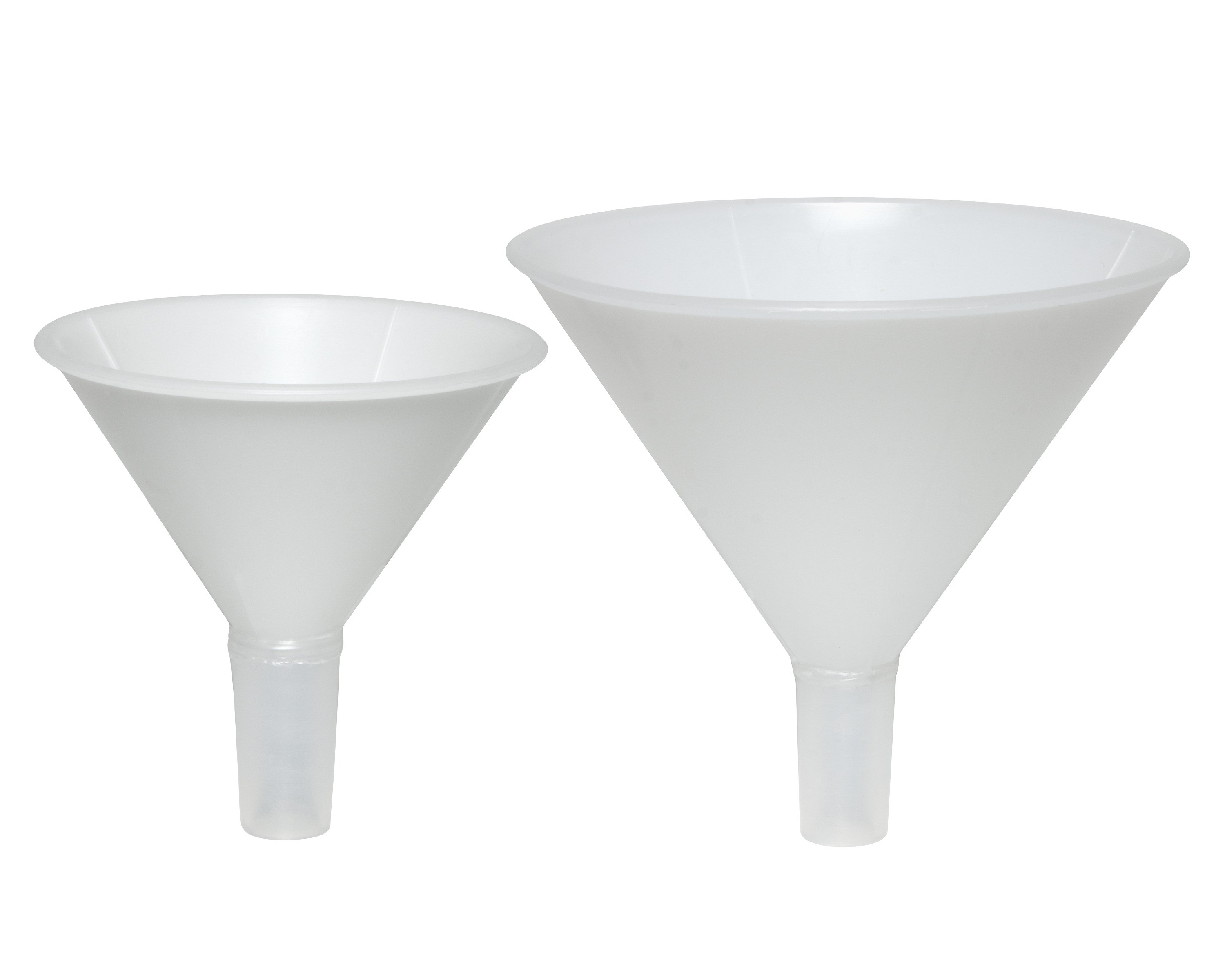 Powder Funnels with Tapered Stem