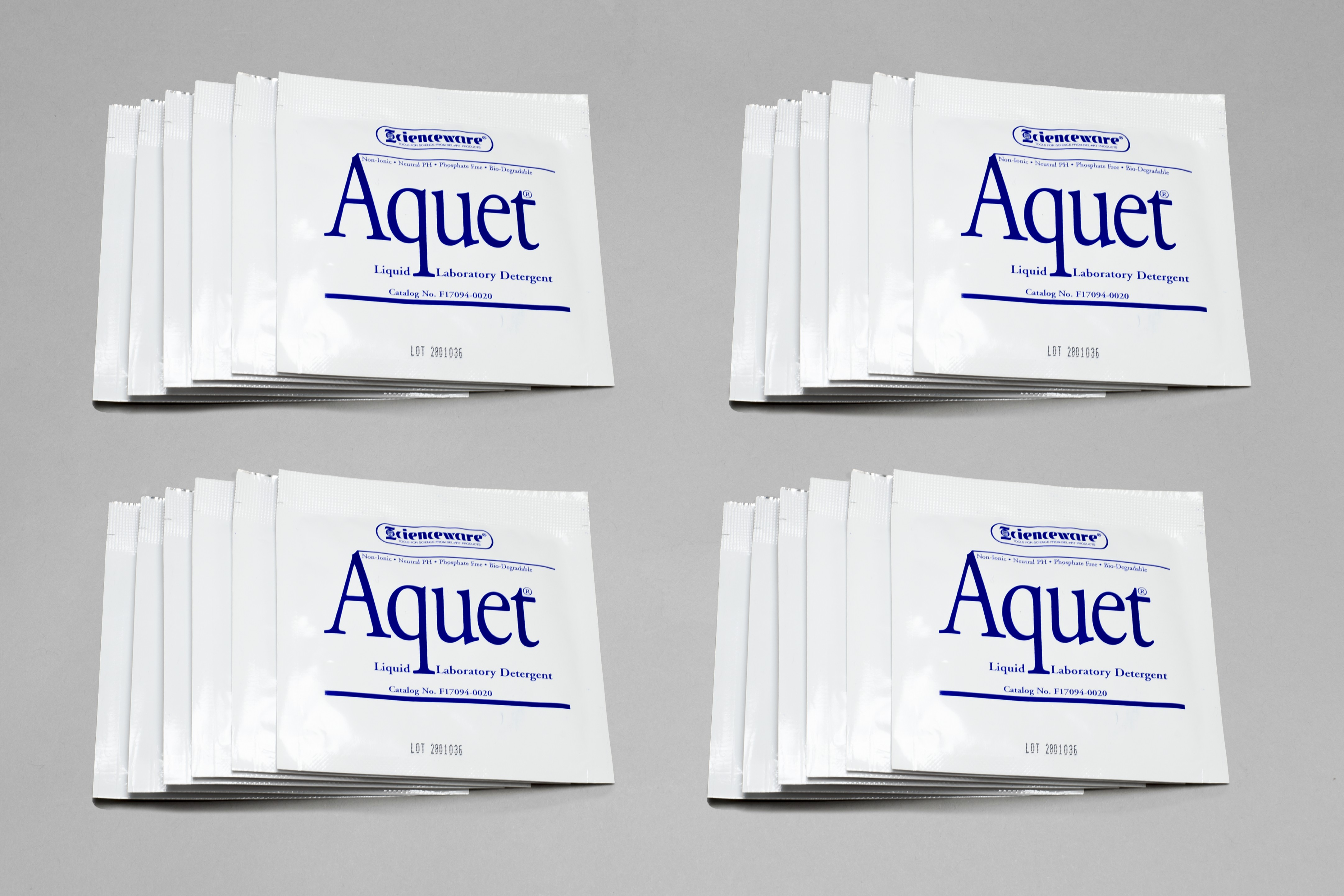 SP Bel-Art Aquet Detergent Concentrate for Glassware and Plastics; 20 ml Pouches (Pack of 20)