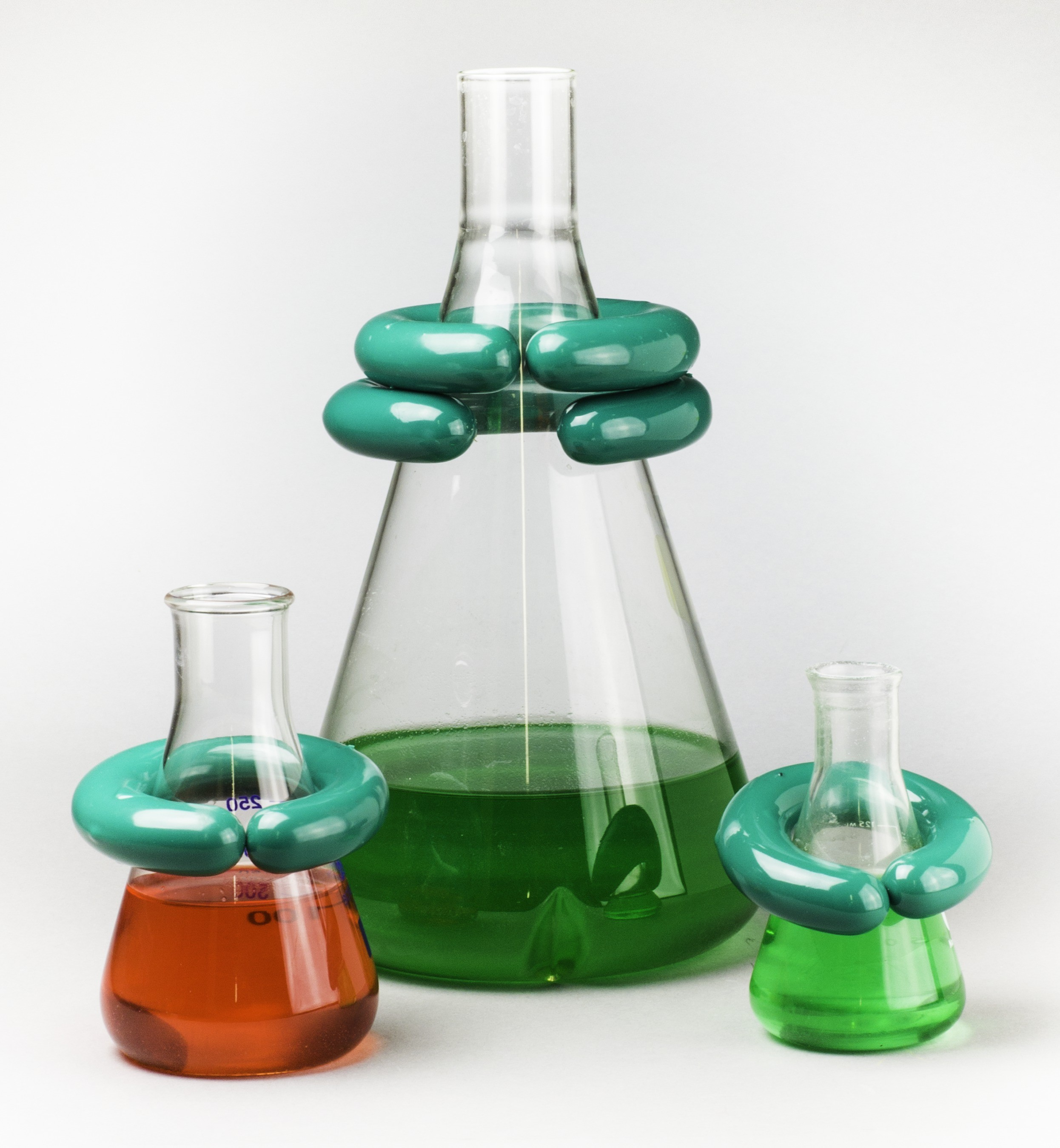 """""""C""""-Shape Open Lead Ring Flask Weights with Vikem Vinyl Coating"""