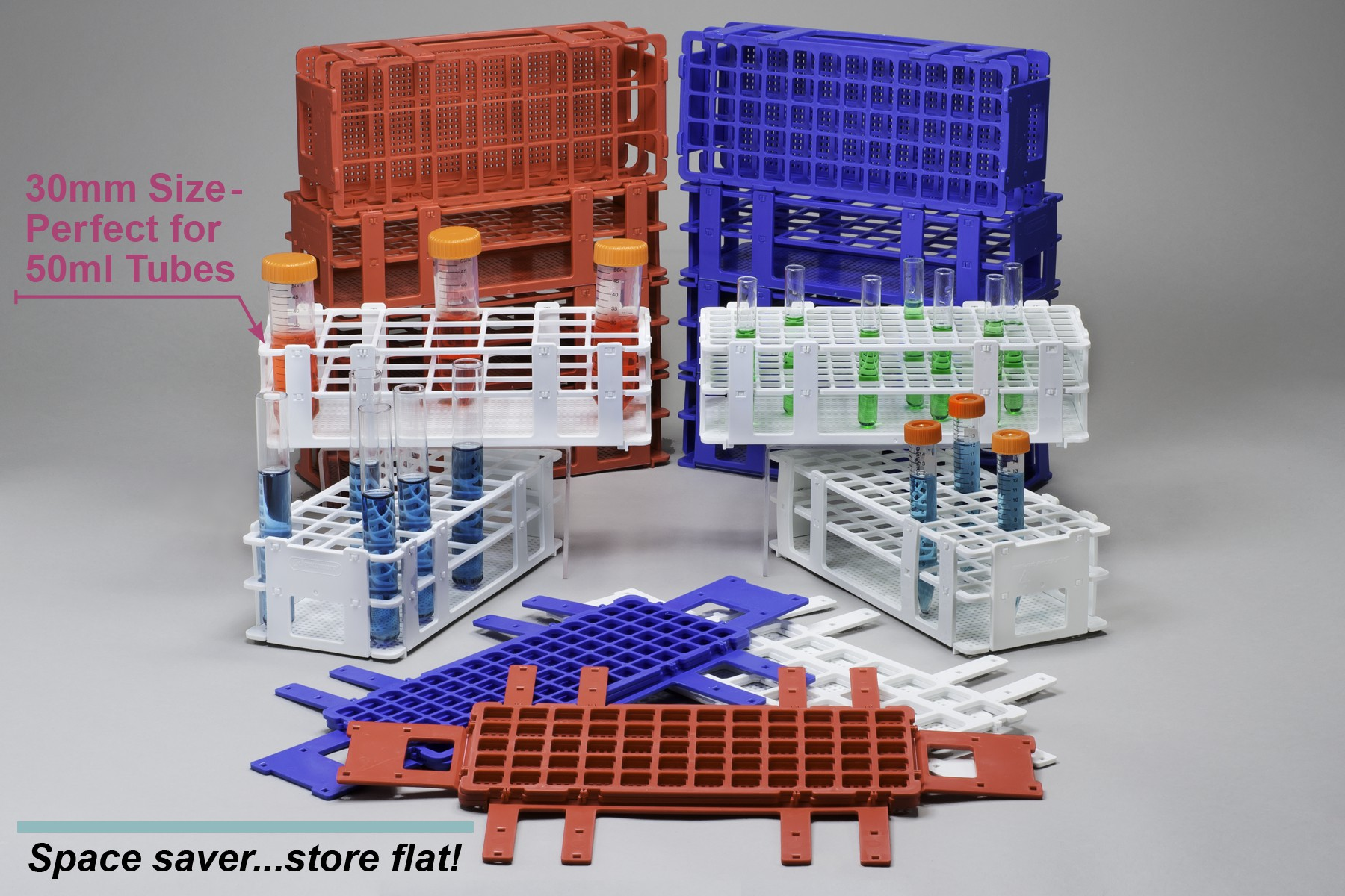 No-Wire Test Tube Racks