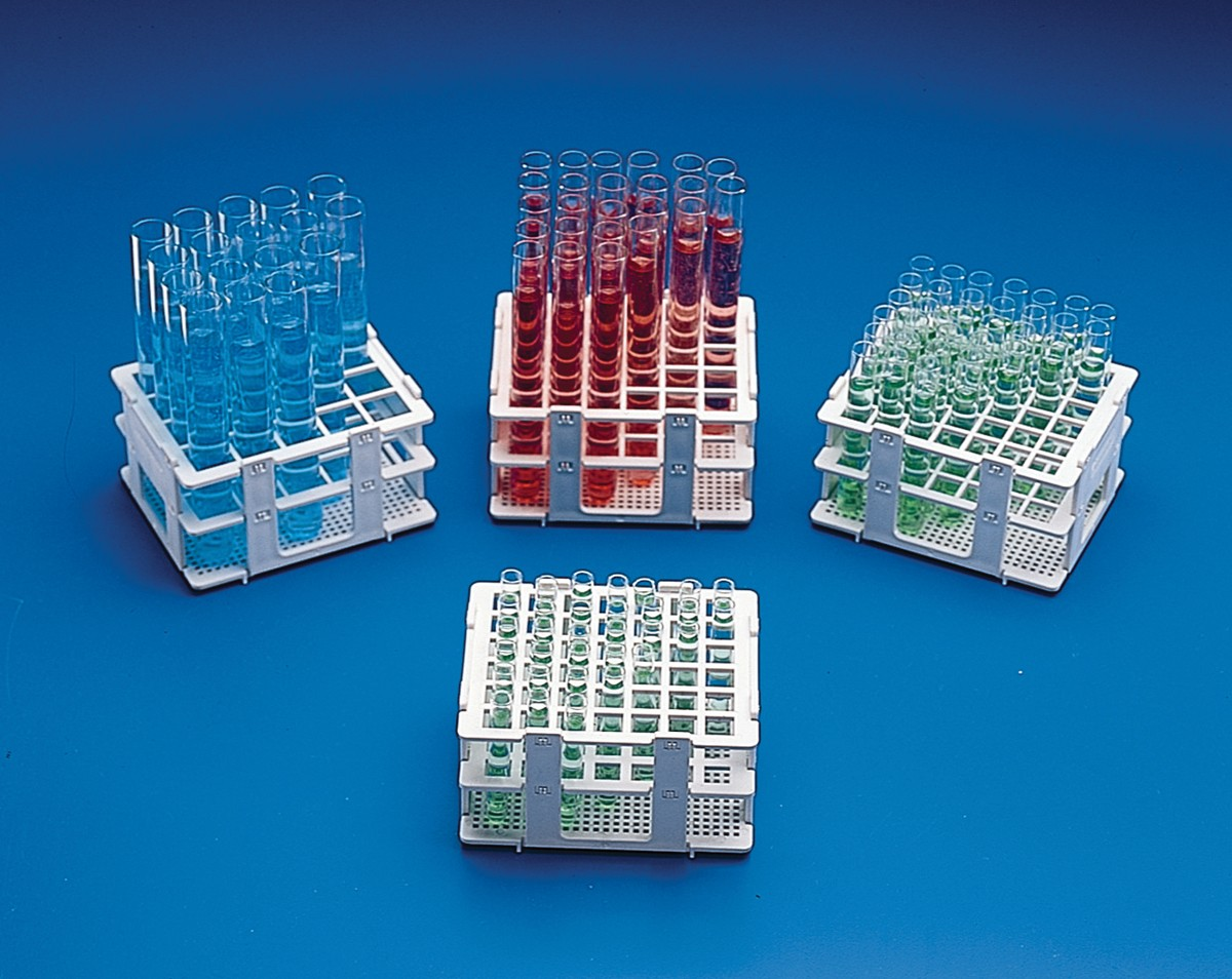 Bel-Art No-Wire Test Tube Half Rack; For 16-20mm Tubes, 20 Places