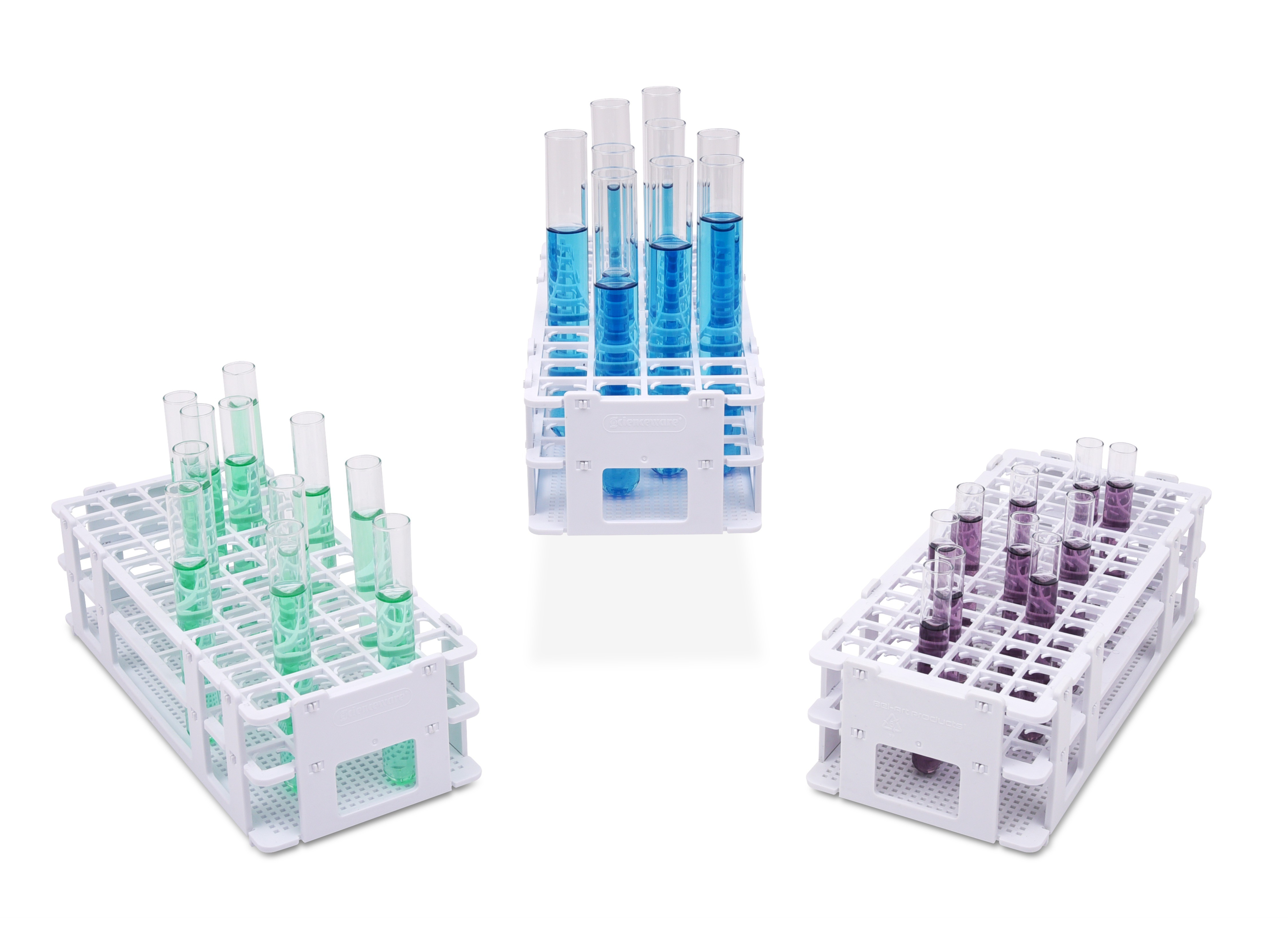 No-Wire Submersible Plastic Test Tube Grip Racks