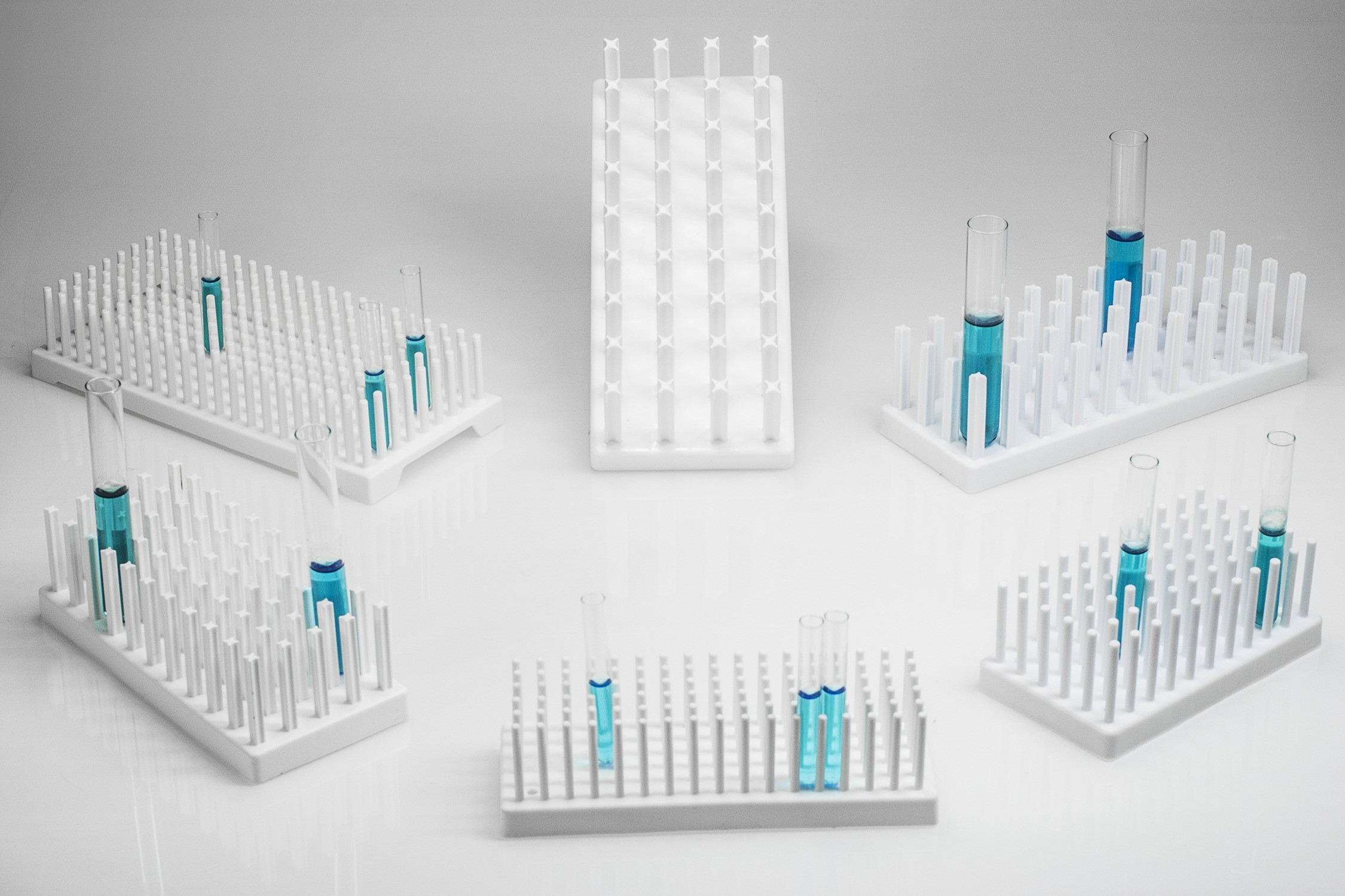 Full-View Test Tube Supports