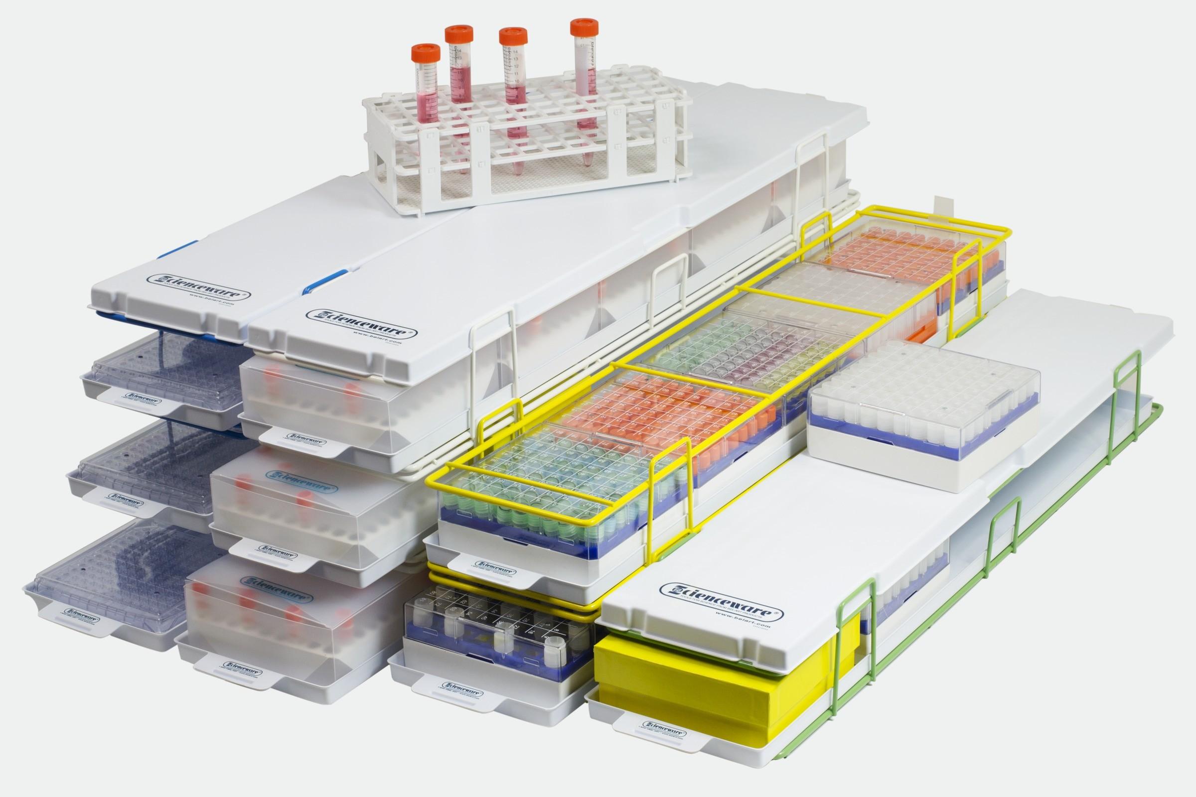 Modular Ultra-Low 5 Box Freezer Racks