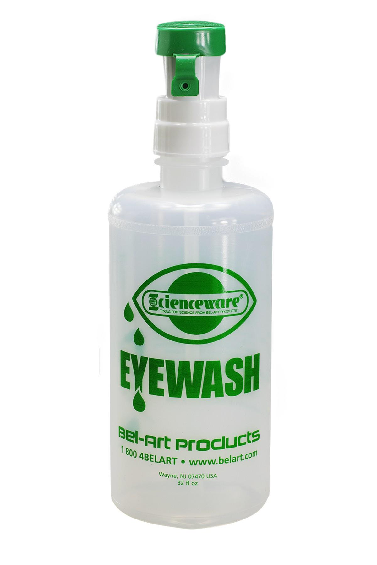SP Bel-Art Emergency Eye Wash Safety Station Bottle Refill, 1000ml