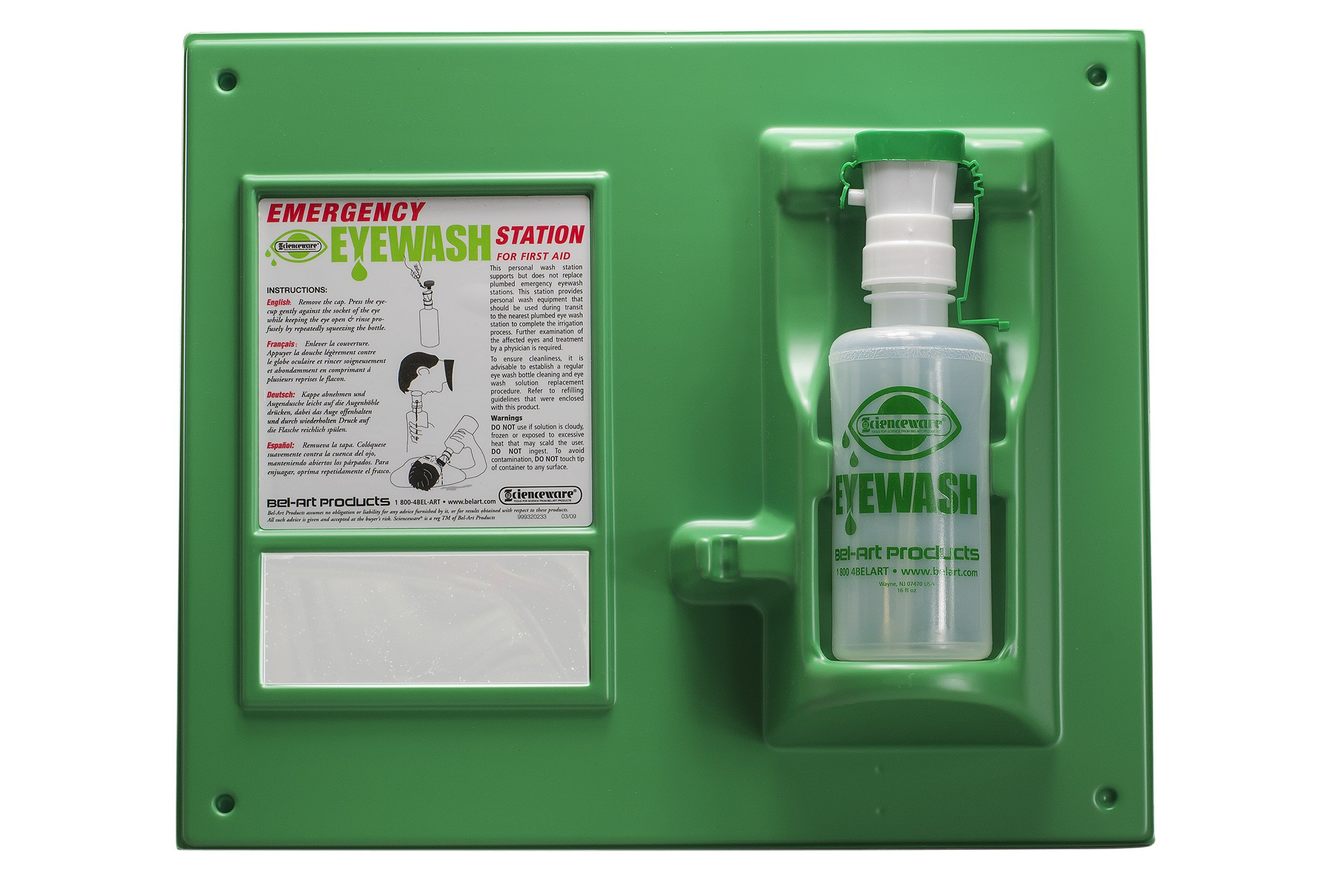 976798f5de9 Bel-Art Emergency Eye Wash Safety Station  1 Bottle