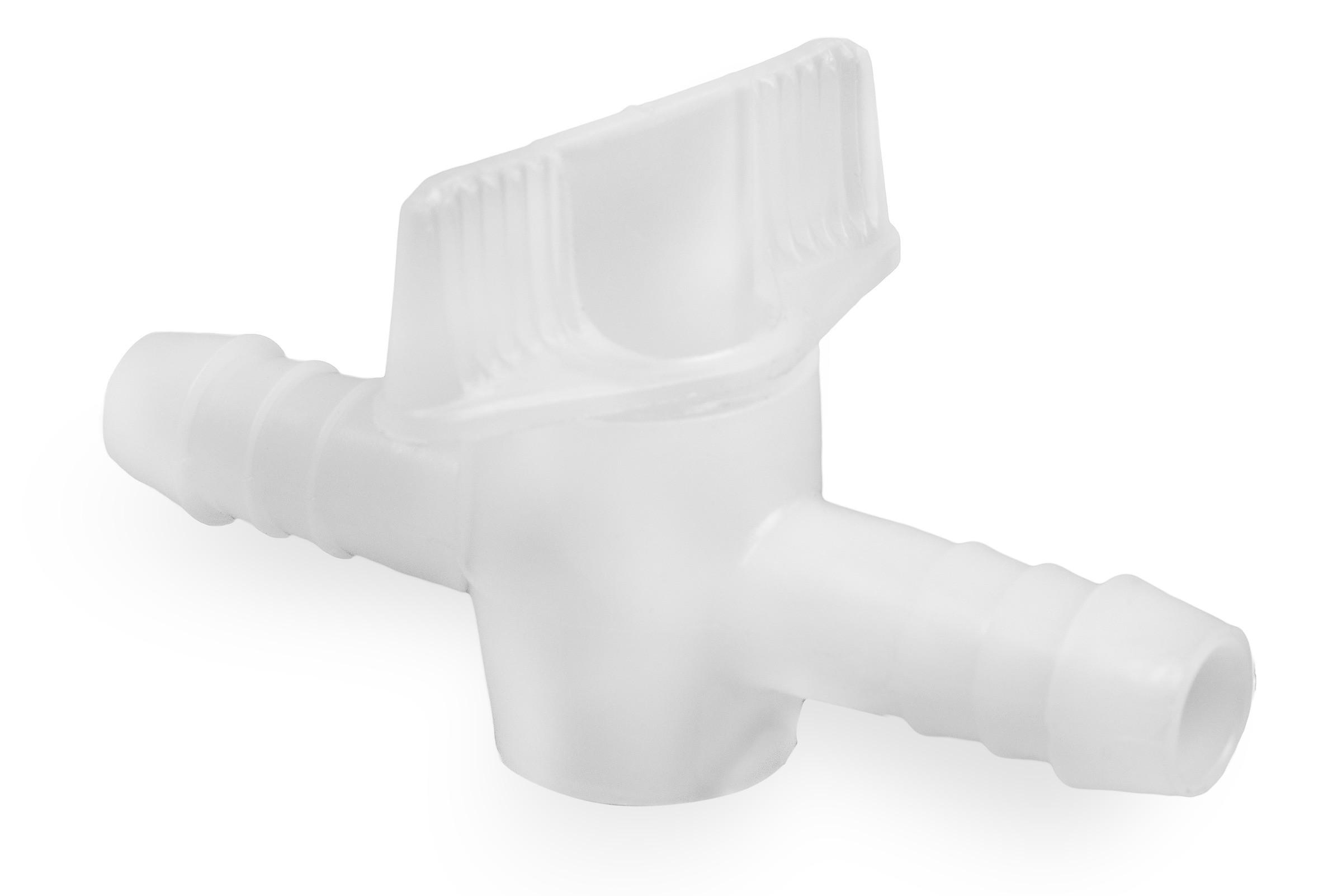 SP Bel-Art 2-Piece Stopcock for ½ in. Tubing; Polyethylene