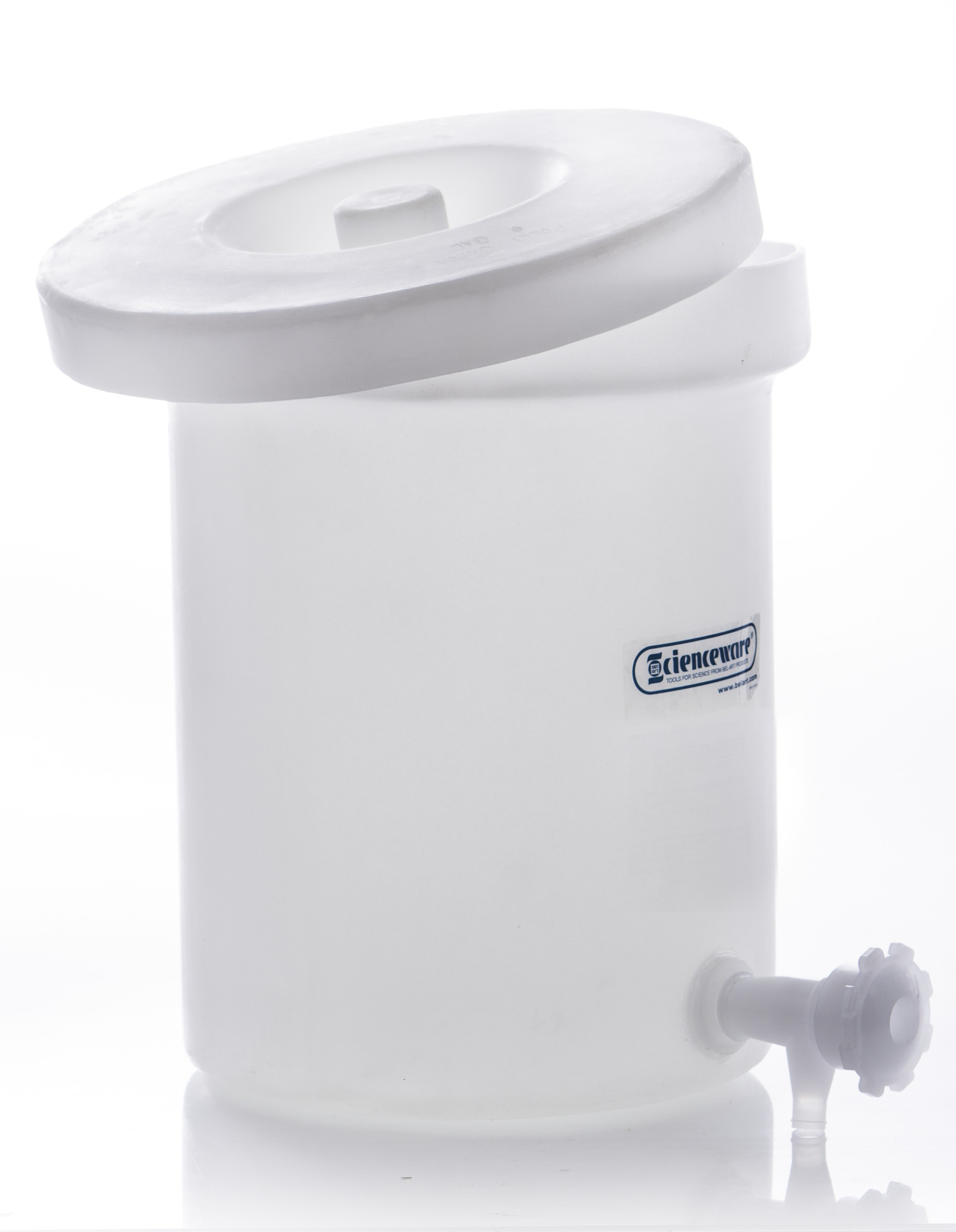 Bel-Art Polly-Crock Polyethylene Tank with Lid and Faucet