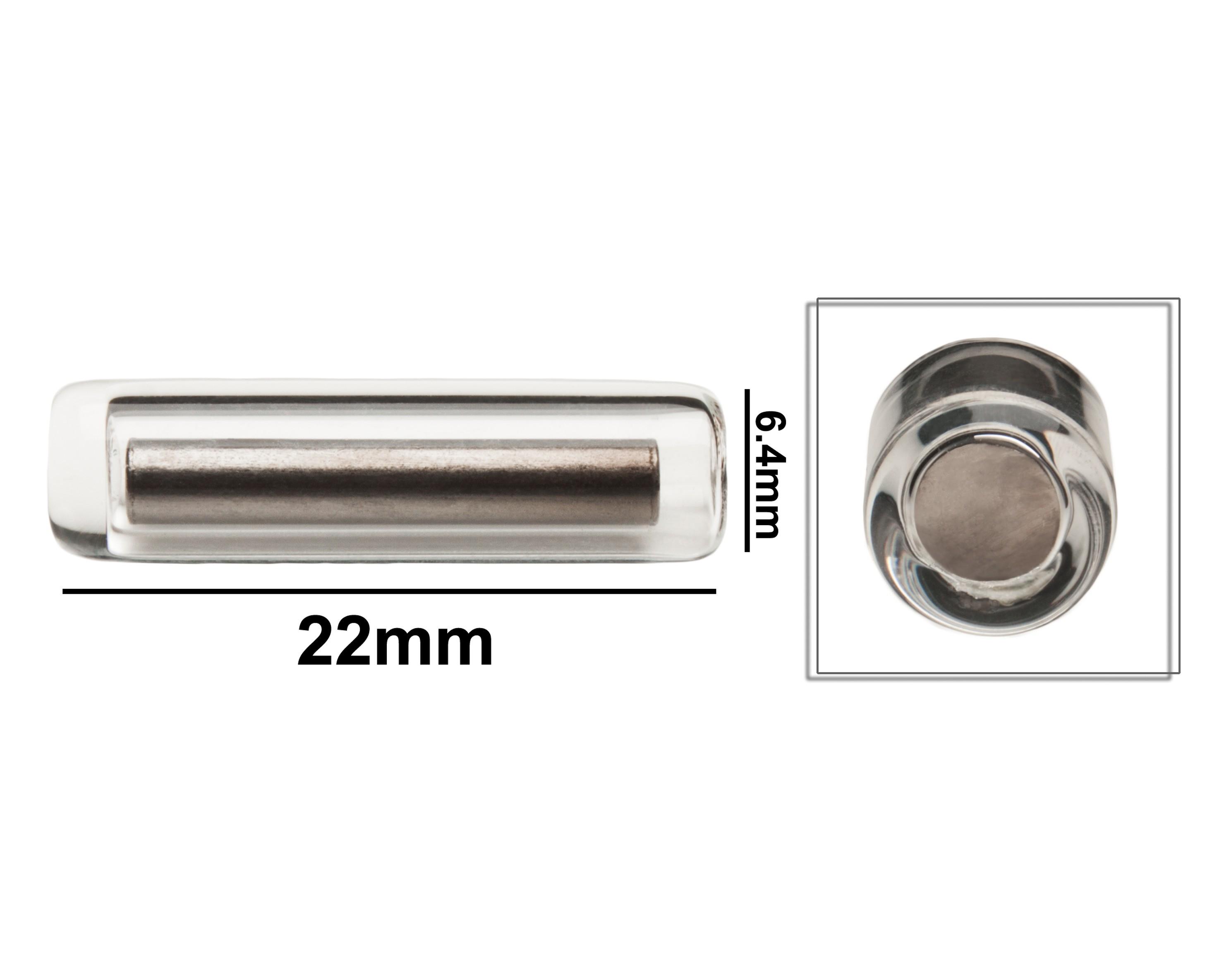 SP Bel-Art Pyrex Magnetic Stirring Bar; Glass Encapsulated, 22 x 6.4mm