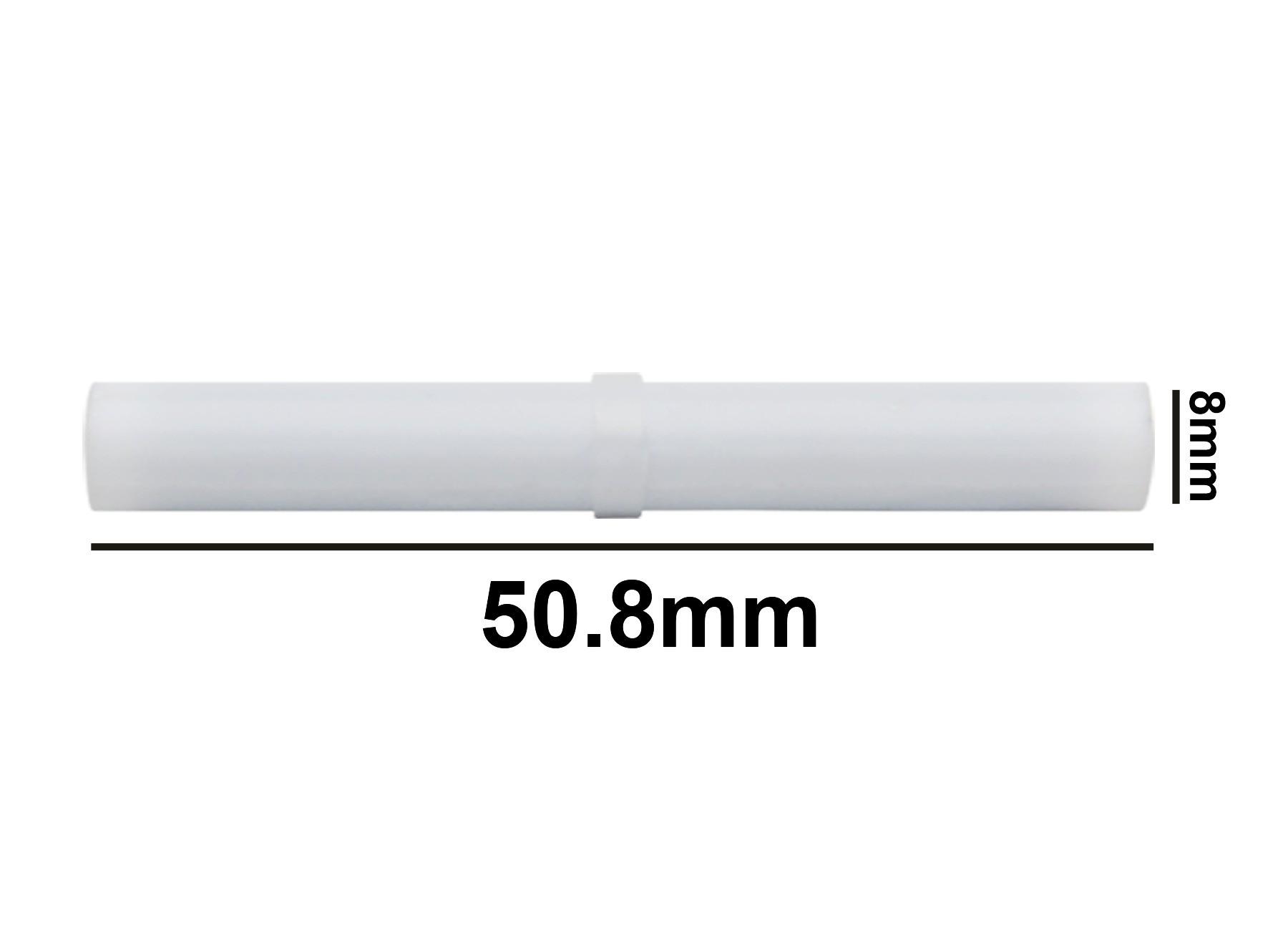 SP Bel-Art Spinbar Teflon Cylindrical Magnetic Stirring Bar; 50.8 x 8mm, White