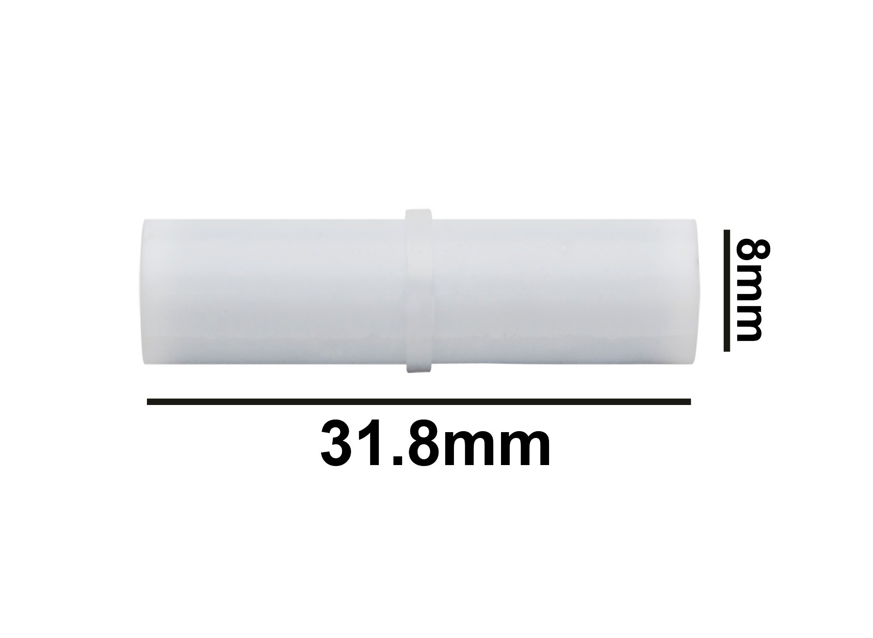 SP Bel-Art Spinbar Teflon Cylindrical Magnetic Stirring Bar; 31.8 x 8mm, White