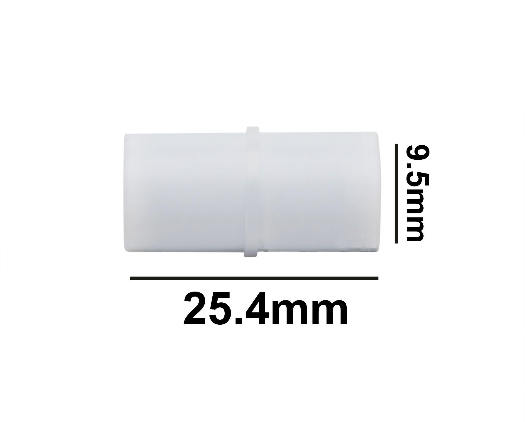 SP Bel-Art Spinbar Teflon Cylindrical Magnetic Stirring Bar; 25.4 x 9.5mm, White