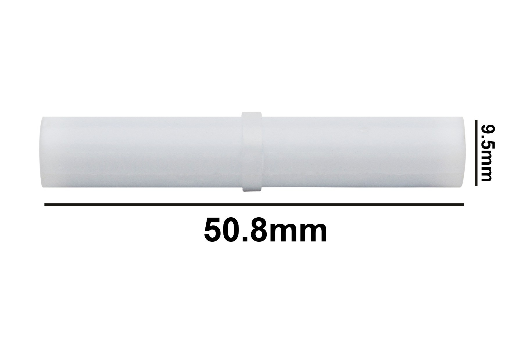 SP Bel-Art Spinbar Teflon Cylindrical Magnetic Stirring Bar; 50.8 x 9.5mm, White