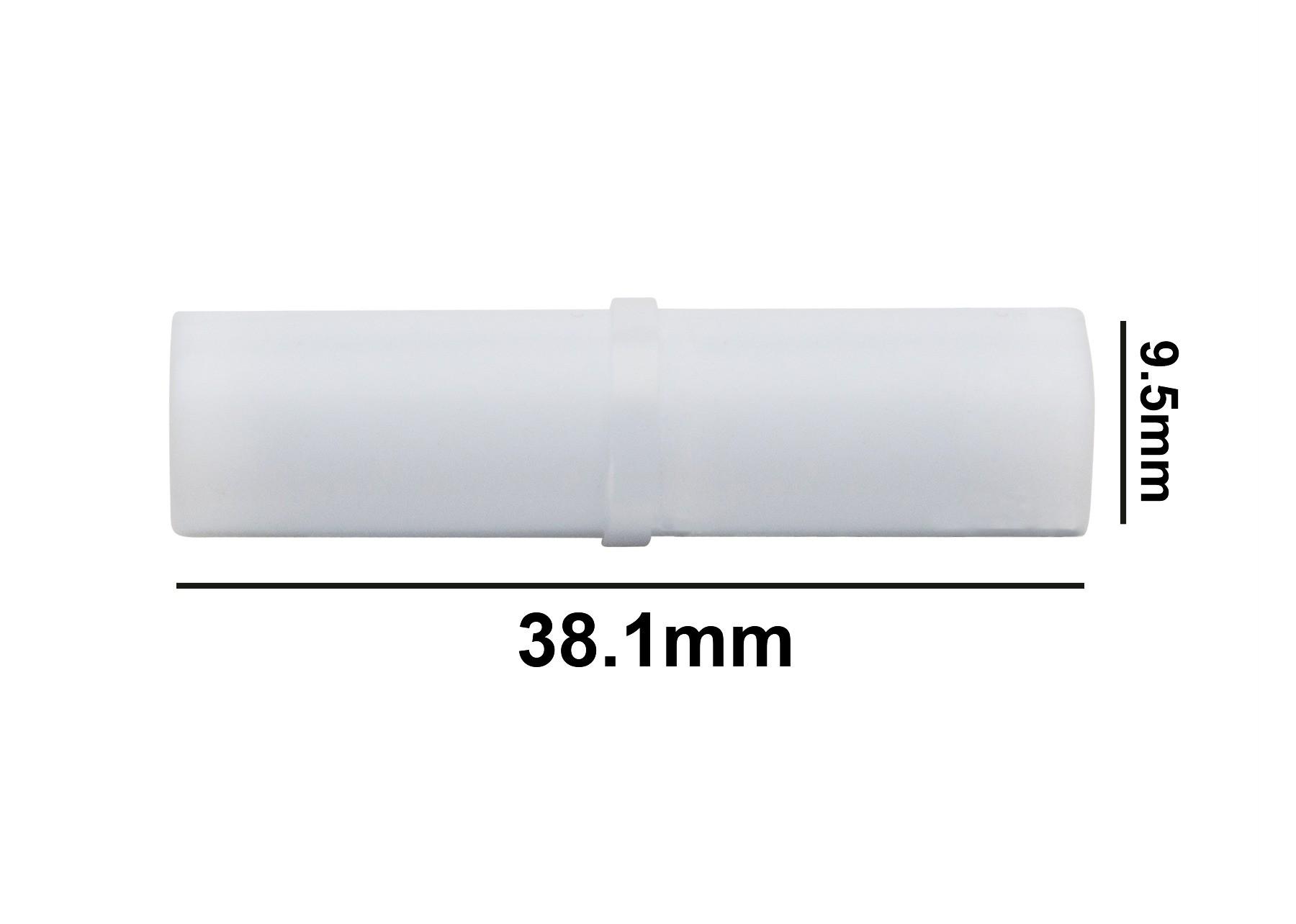 SP Bel-Art Spinbar Teflon Cylindrical Magnetic Stirring Bar; 38.1 x 9.5mm, White