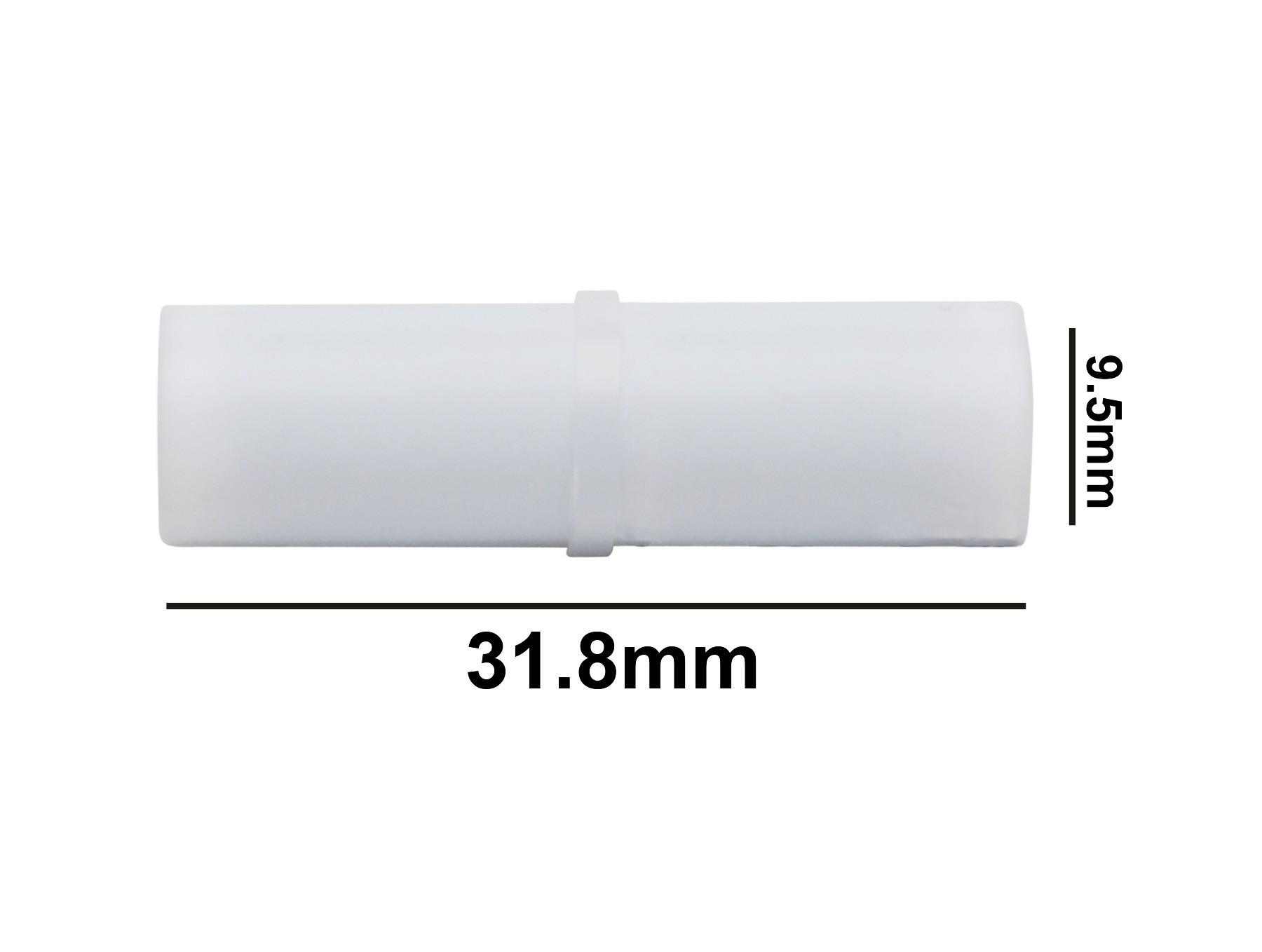 SP Bel-Art Spinbar Teflon Cylindrical Magnetic Stirring Bar; 31.8 x 9.5mm, White