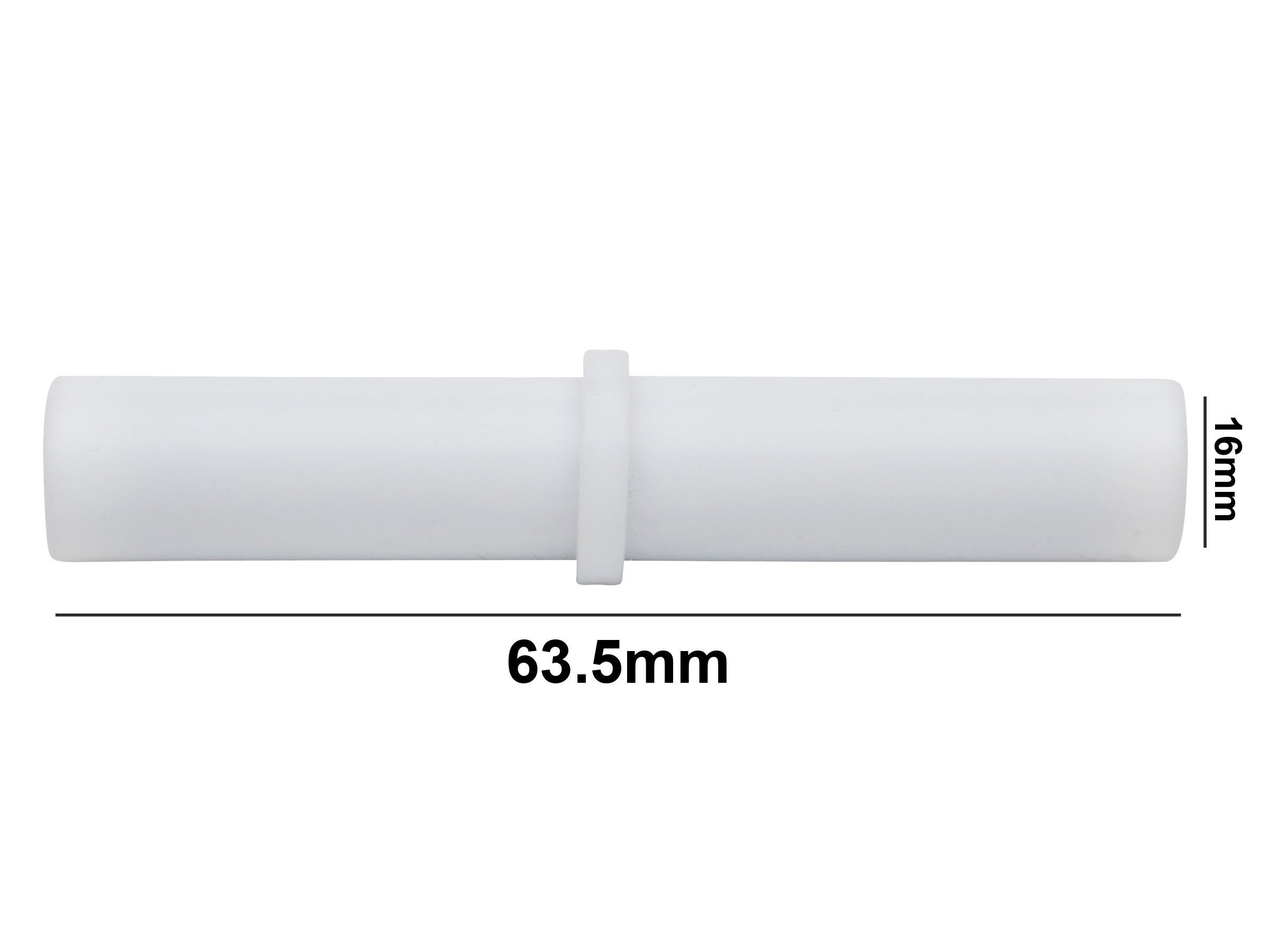 SP Bel-Art Spinbar Teflon Cylindrical Magnetic Stirring Bar; 63.5 x 16mm, White