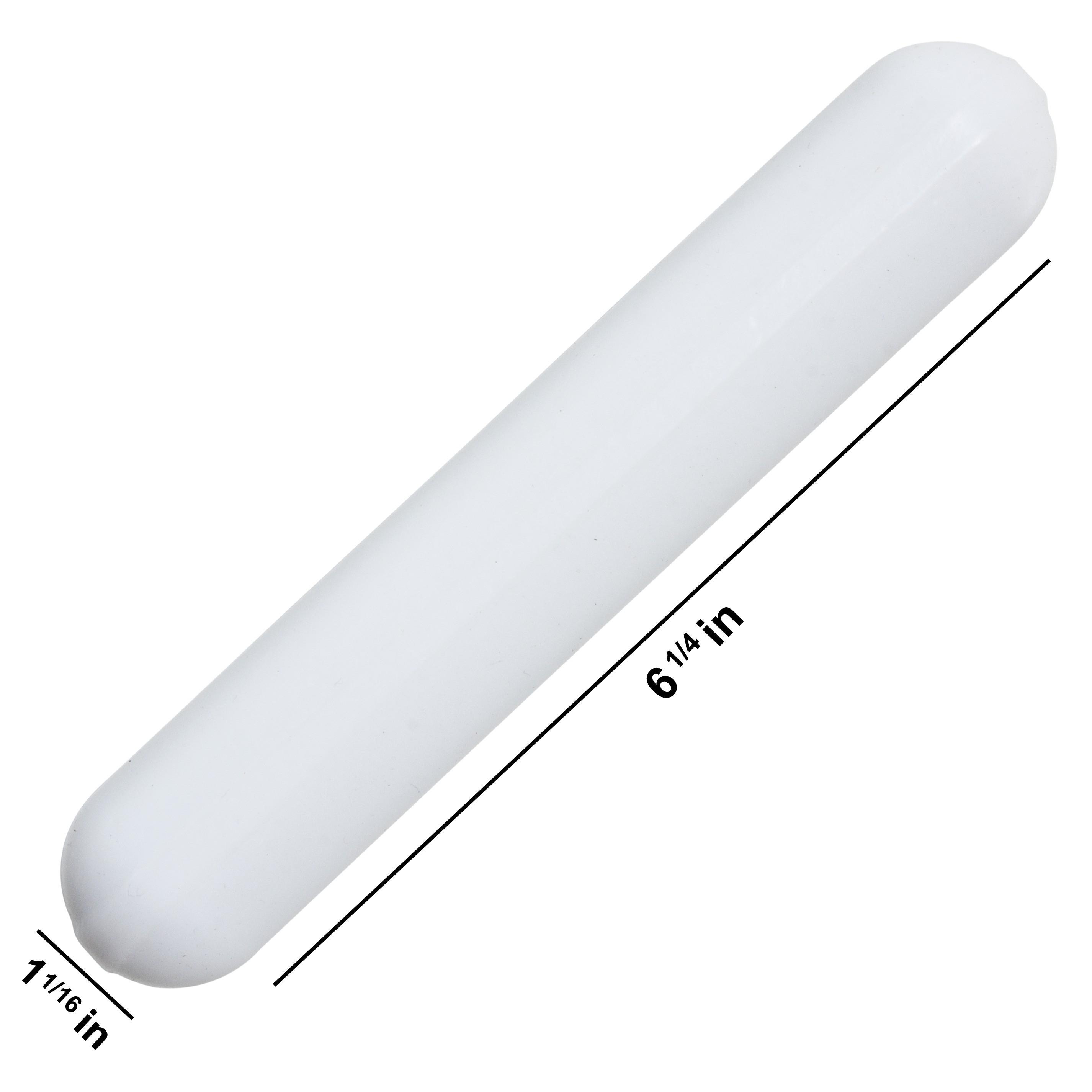 Bel-Art Spinbar Giant Polygon Teflon Magnetic Stirring Bar; 159 x 27mm, White, without Pivot Ring