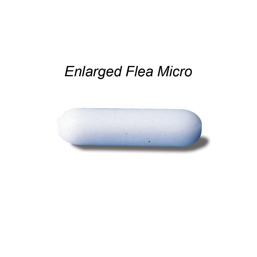 Bel-Art Spinbar Teflon Micro (Flea) Magnetic Stirring Bar; 12.7 x 3mm, White