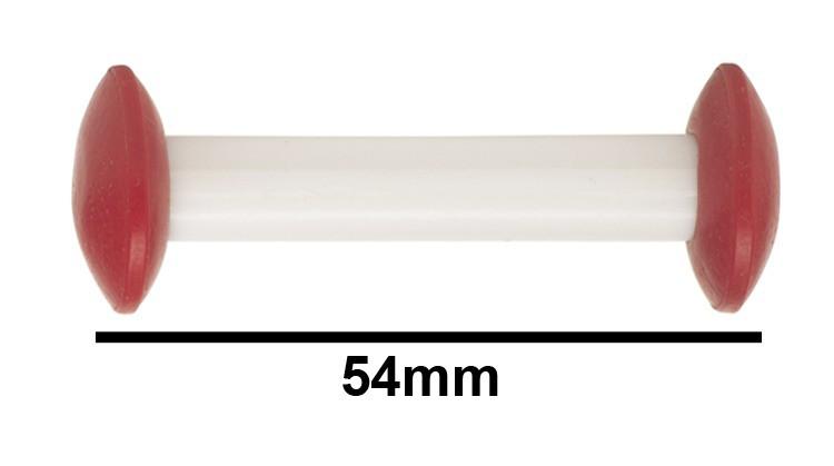 F37172-0001 Bel-Art Circulus Teflon Magnetic Stirring Bar; 54mm Length Red