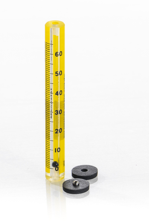 SP Bel-Art Riteflow Borosilicate Glass Unmounted Flowmeter; 65mm Scale, Size 1